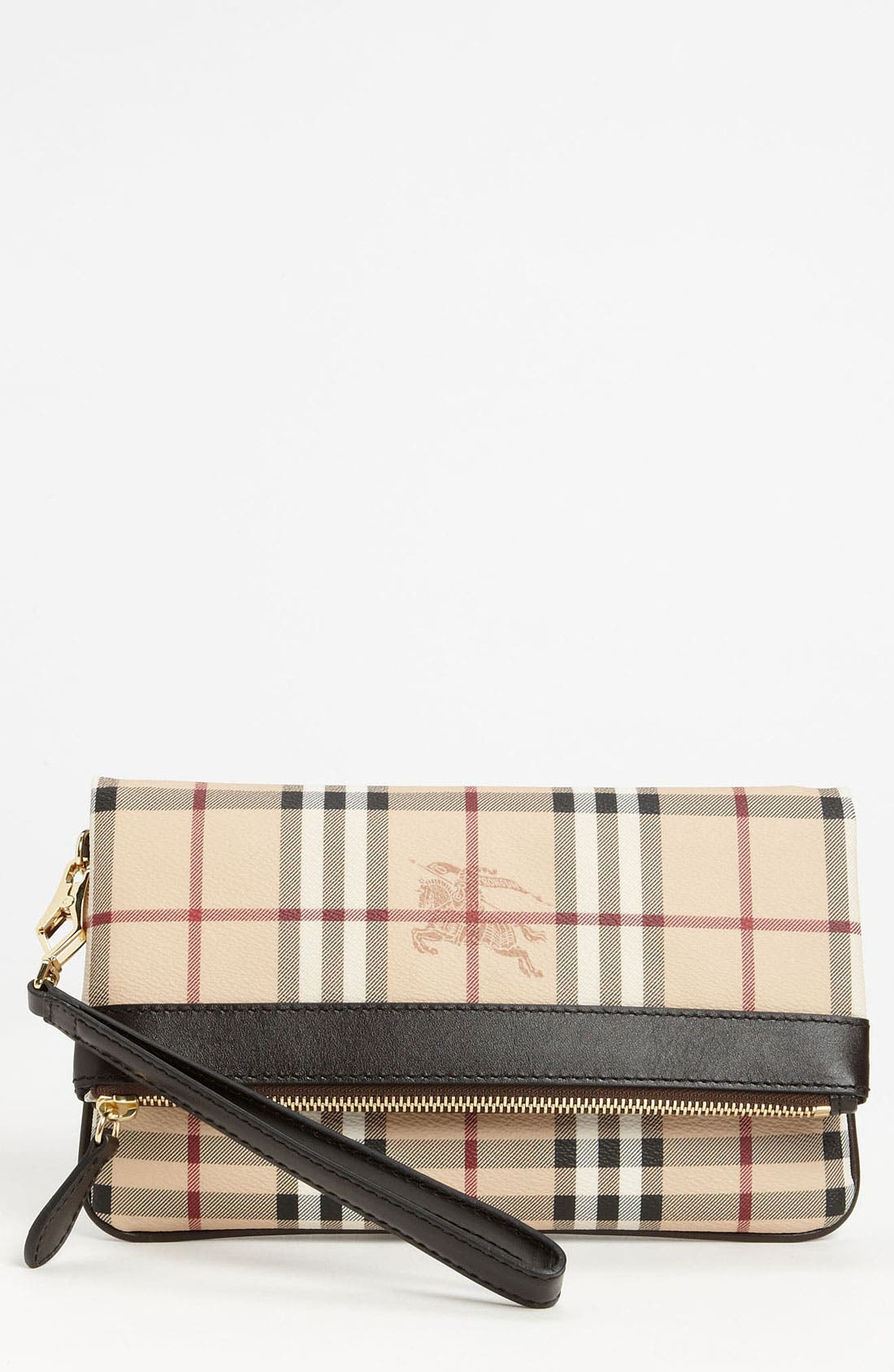 Alternate Image 1 Selected - Burberry 'Haymarket Check' Wristlet