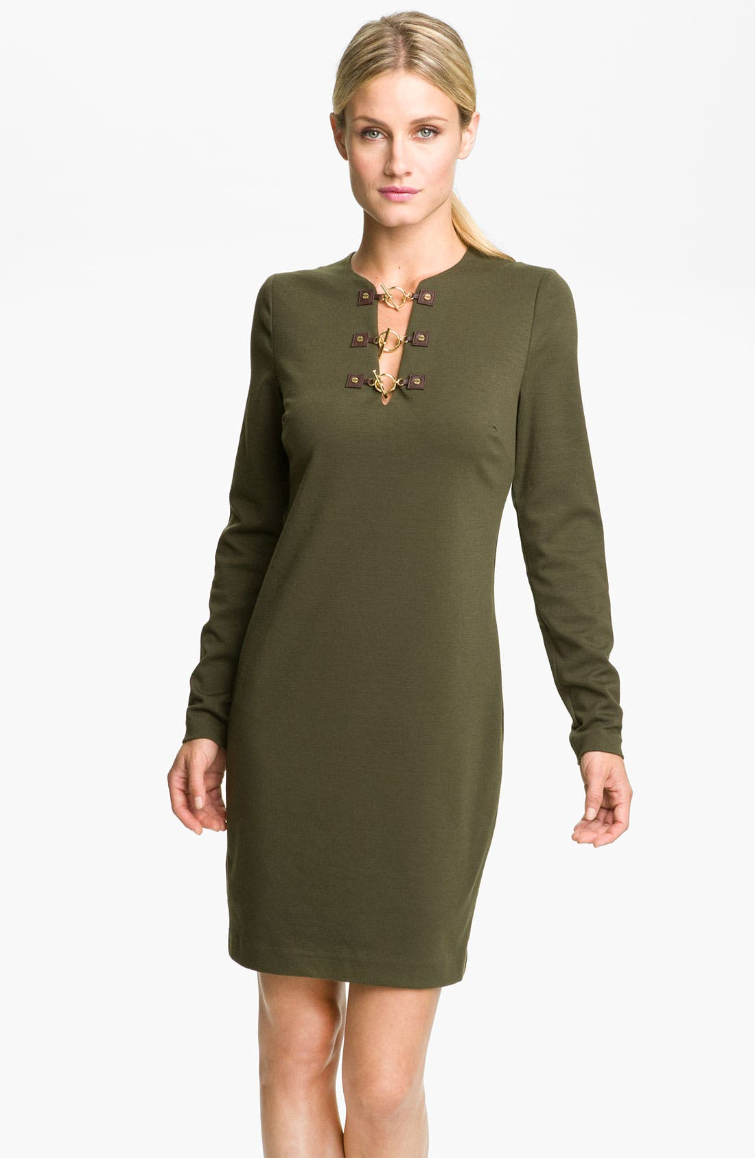 Alternate Image 1 Selected - MICHAEL Michael Kors Toggle Neck Dress