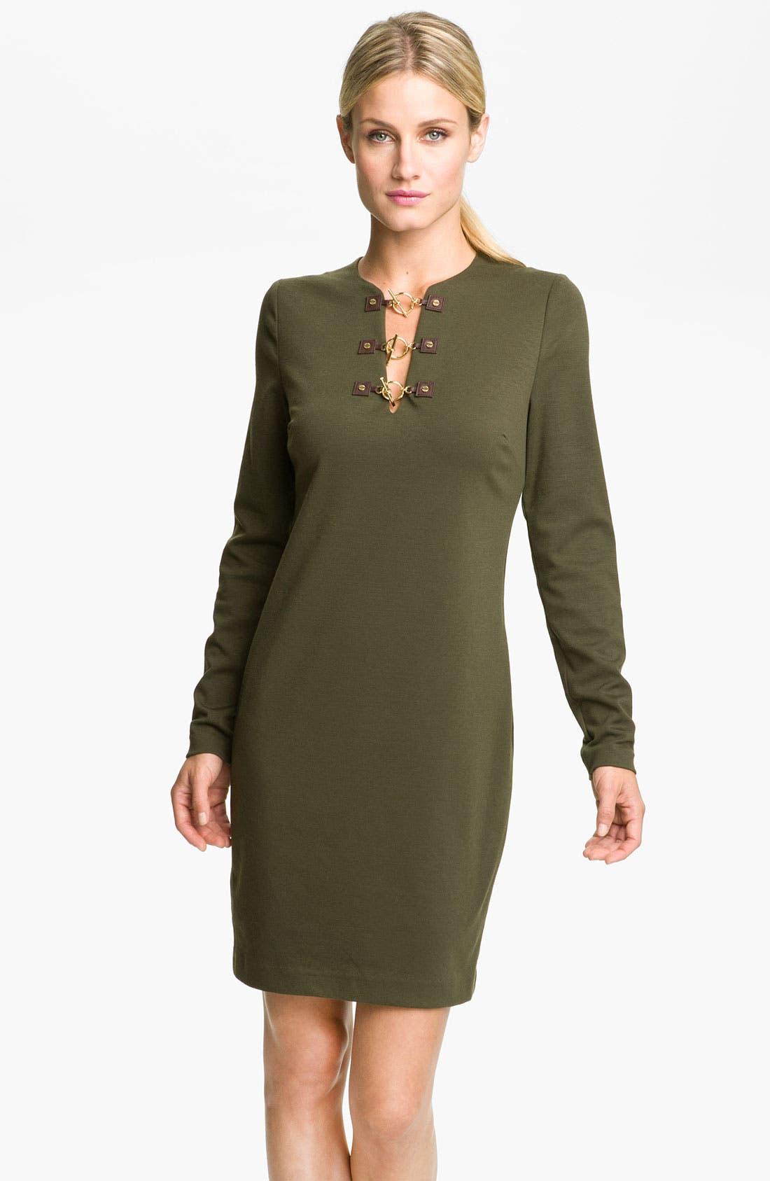 Main Image - MICHAEL Michael Kors Toggle Neck Dress