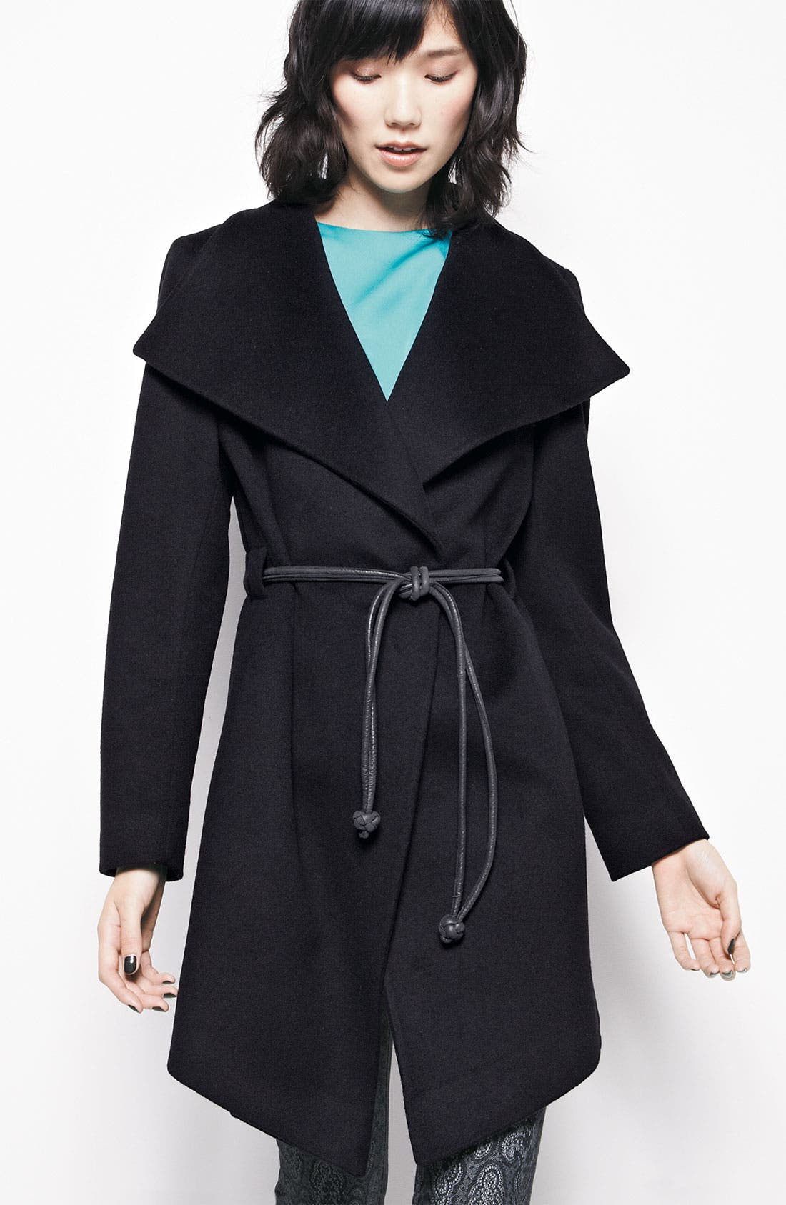 Alternate Image 4  - Trilogy by Fleurette Wool Wrap Coat