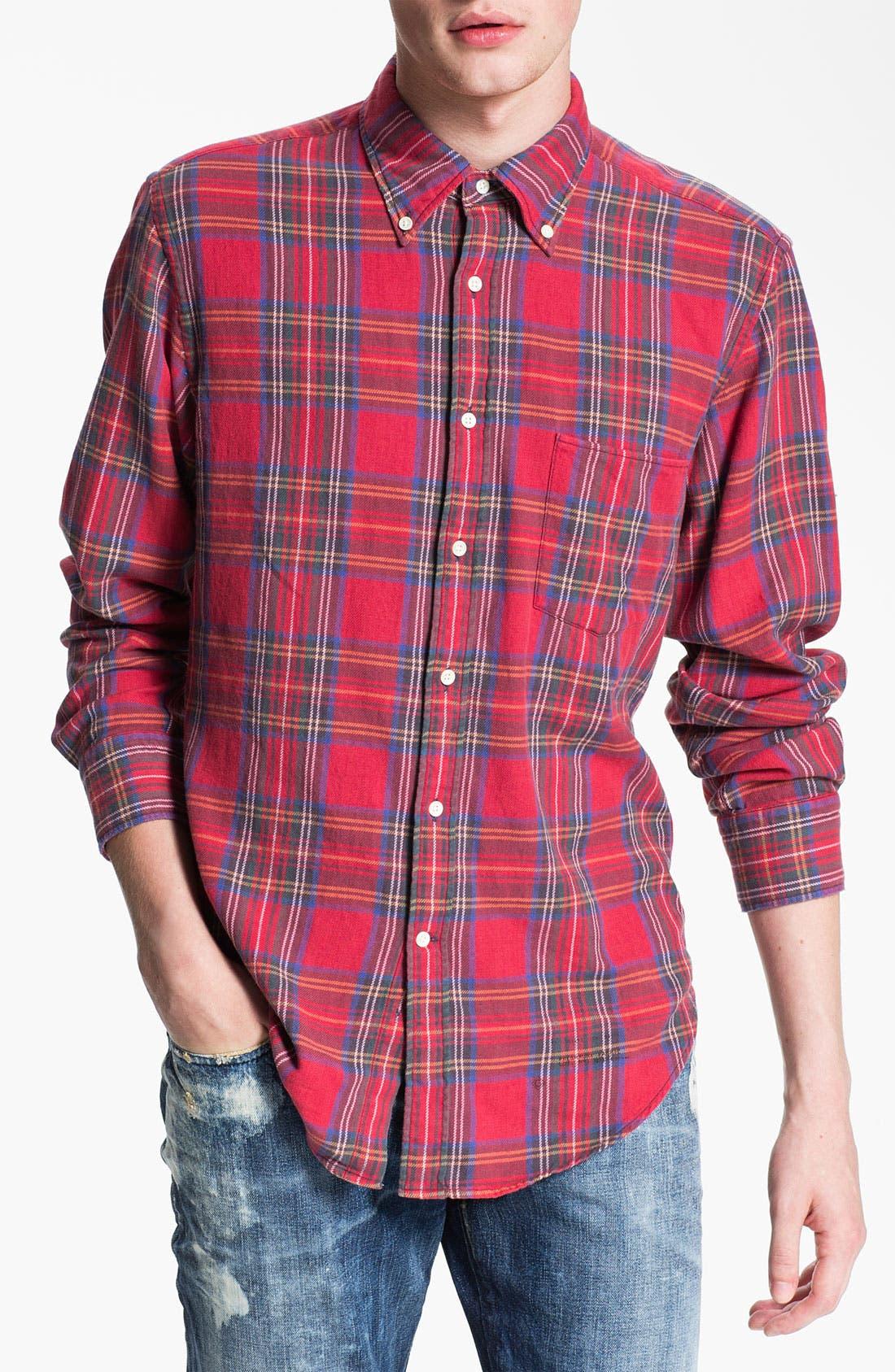 Alternate Image 1 Selected - Gant Rugger 'Tinkering' Twill Plaid Shirt