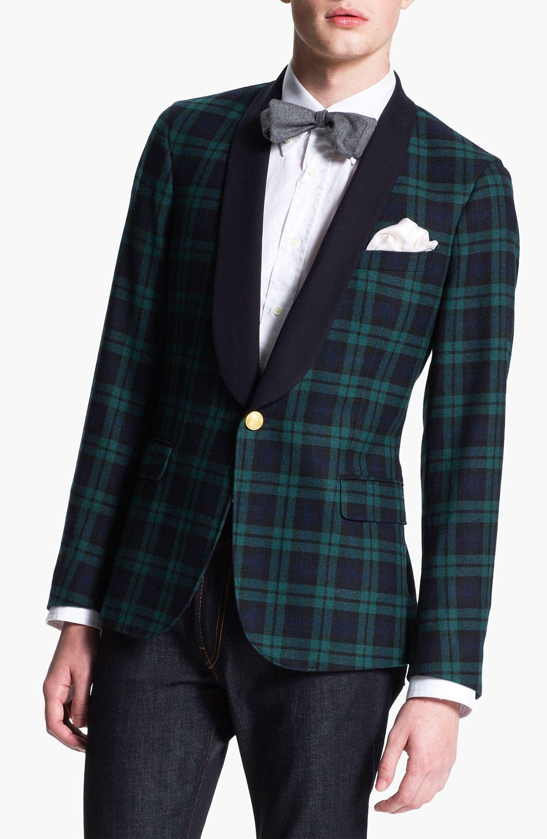 Alternate Image 1 Selected - Gant Rugger 'Black Watch Tux' One Button Blazer