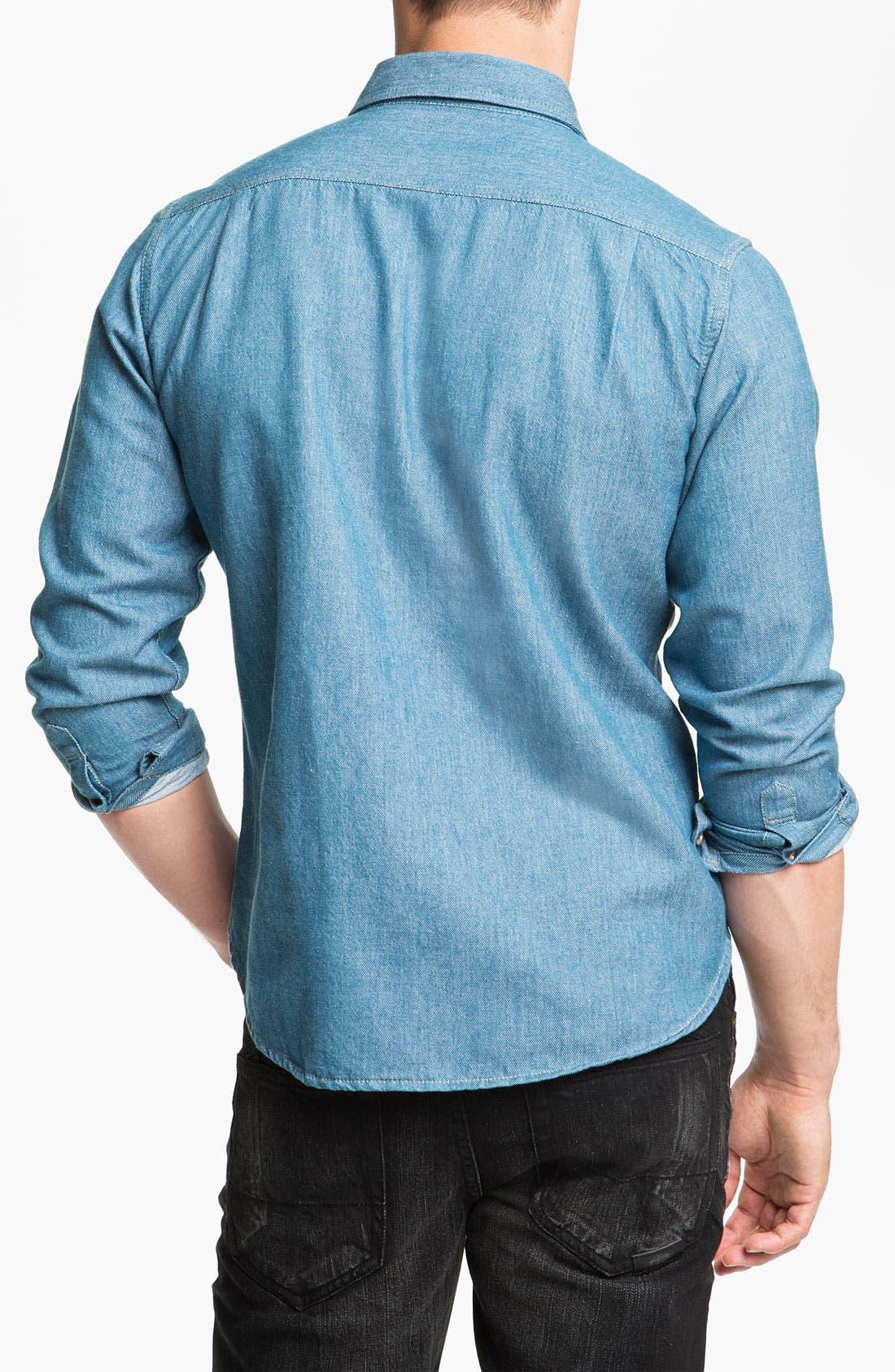 Alternate Image 2  - Pendleton Coat, Obey Shirt & PRPS Slim Fit Jeans