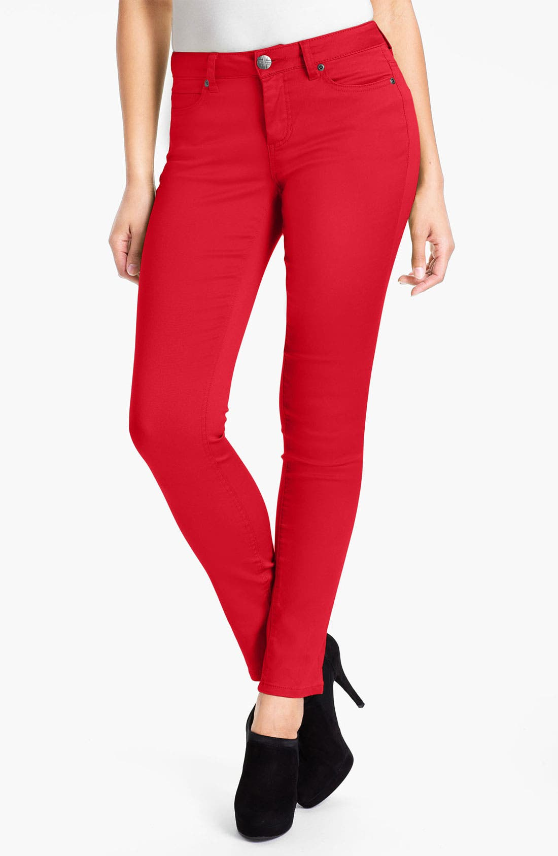 Alternate Image 1 Selected - Liverpool Jeans Company 'Abby' Skinny Stretch Twill  Jeans (Petite) (Online Exclusive)