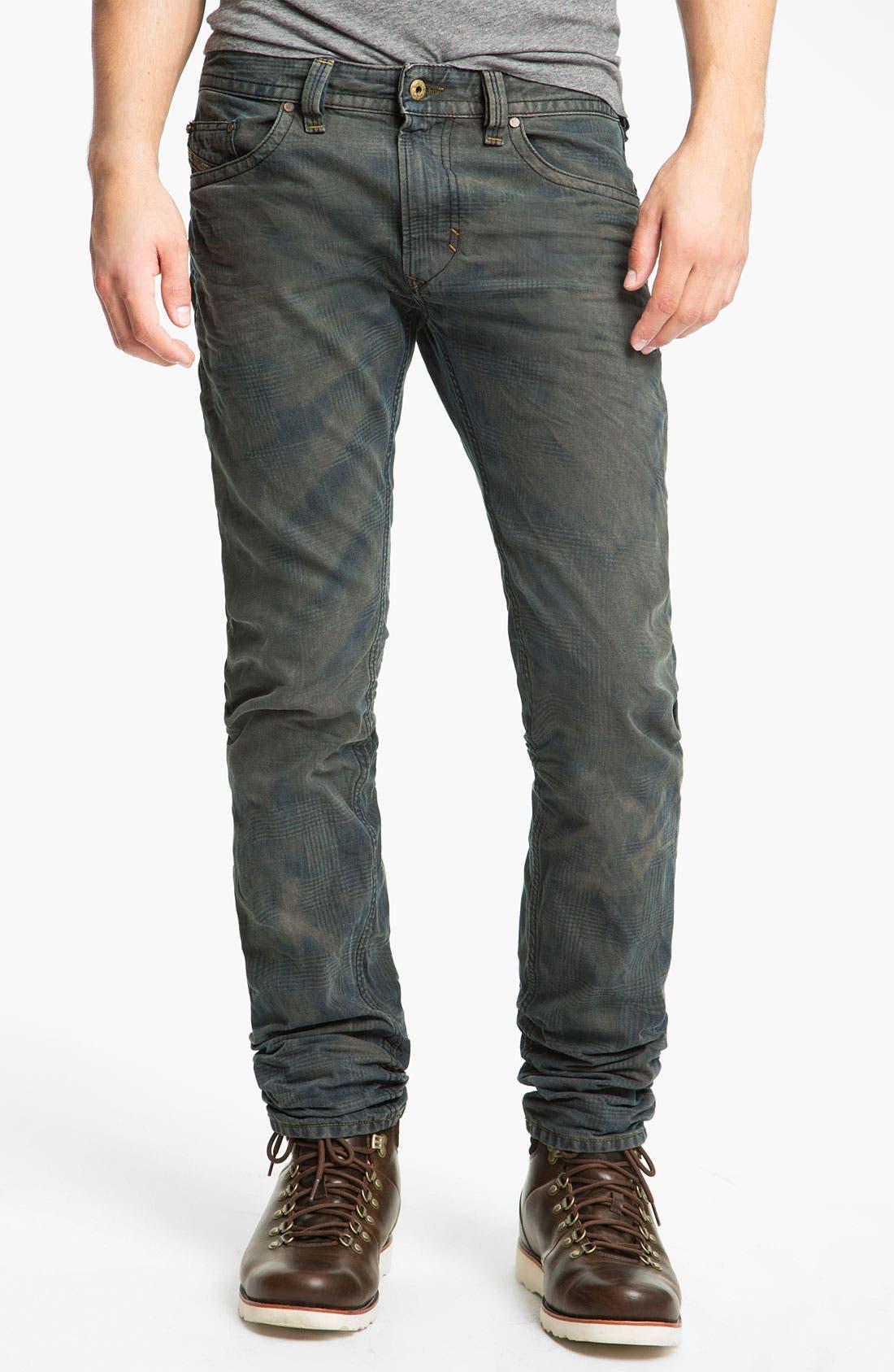 Alternate Image 2  - DIESEL® 'Thavar' Slim Straight Leg Jeans (0808Z)