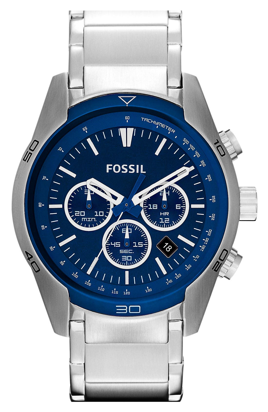 Alternate Image 1 Selected - Fossil 'Sport' Chronograph Bracelet Watch, 44mm