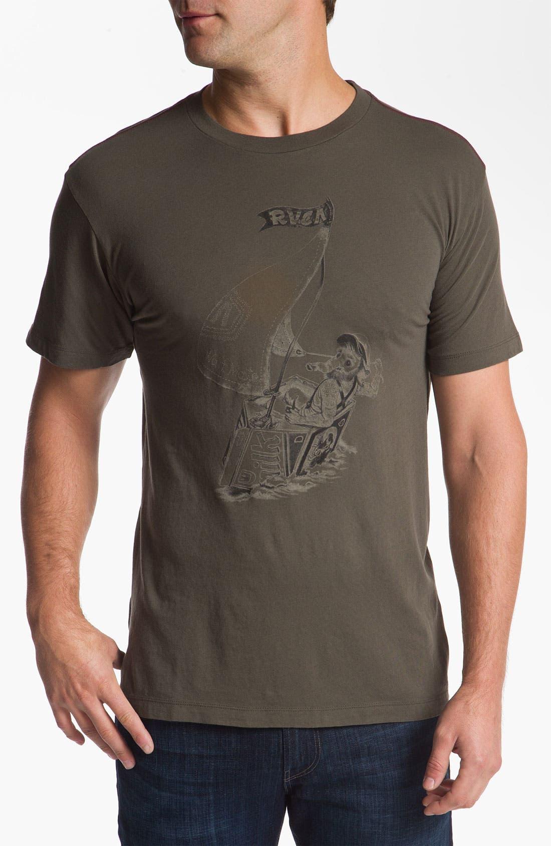 Alternate Image 1 Selected - RVCA 'Waff Mate' Vintage Wash T-Shirt
