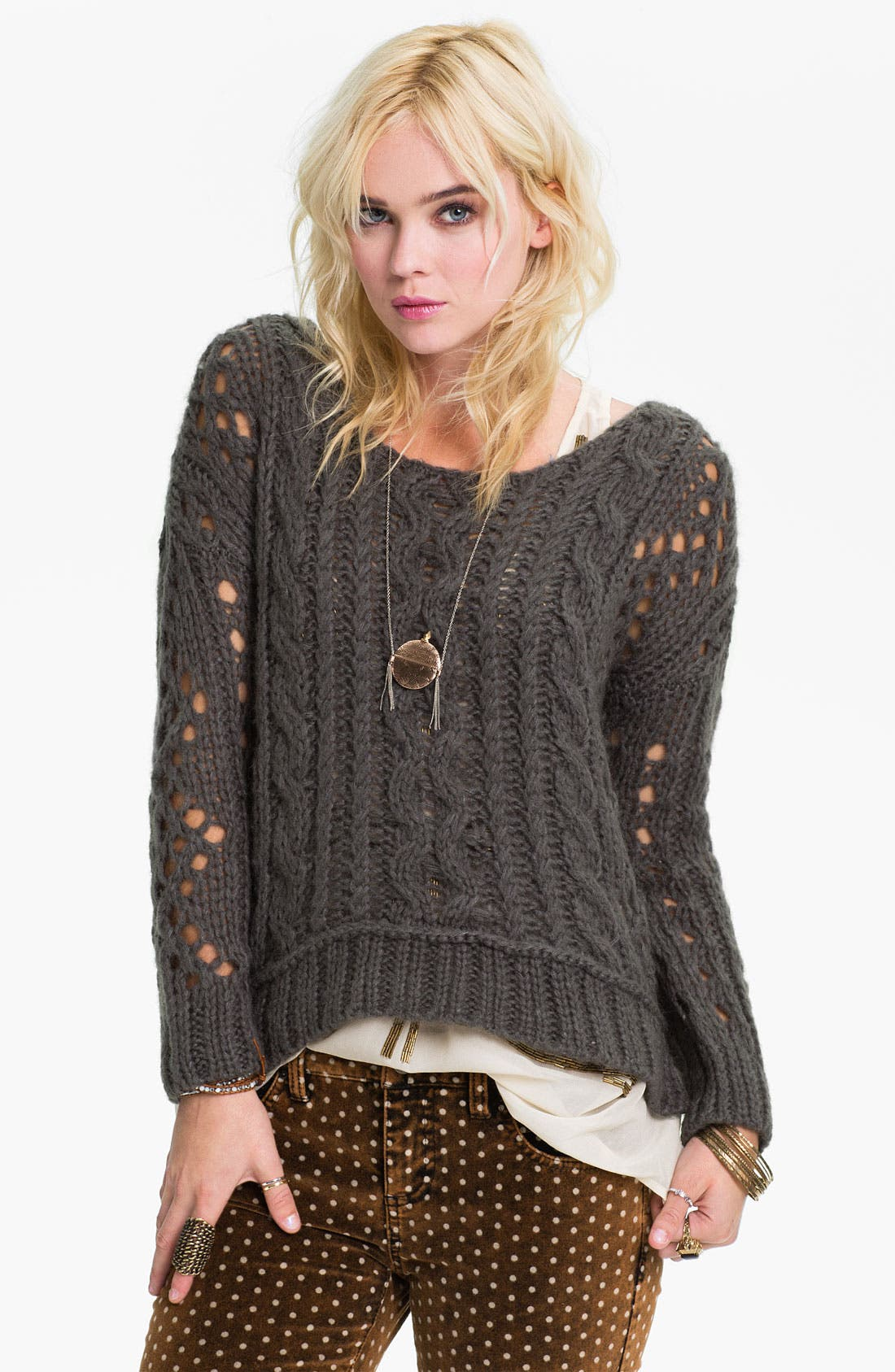 Alternate Image 1 Selected - Free People Chunky Cable Sweater