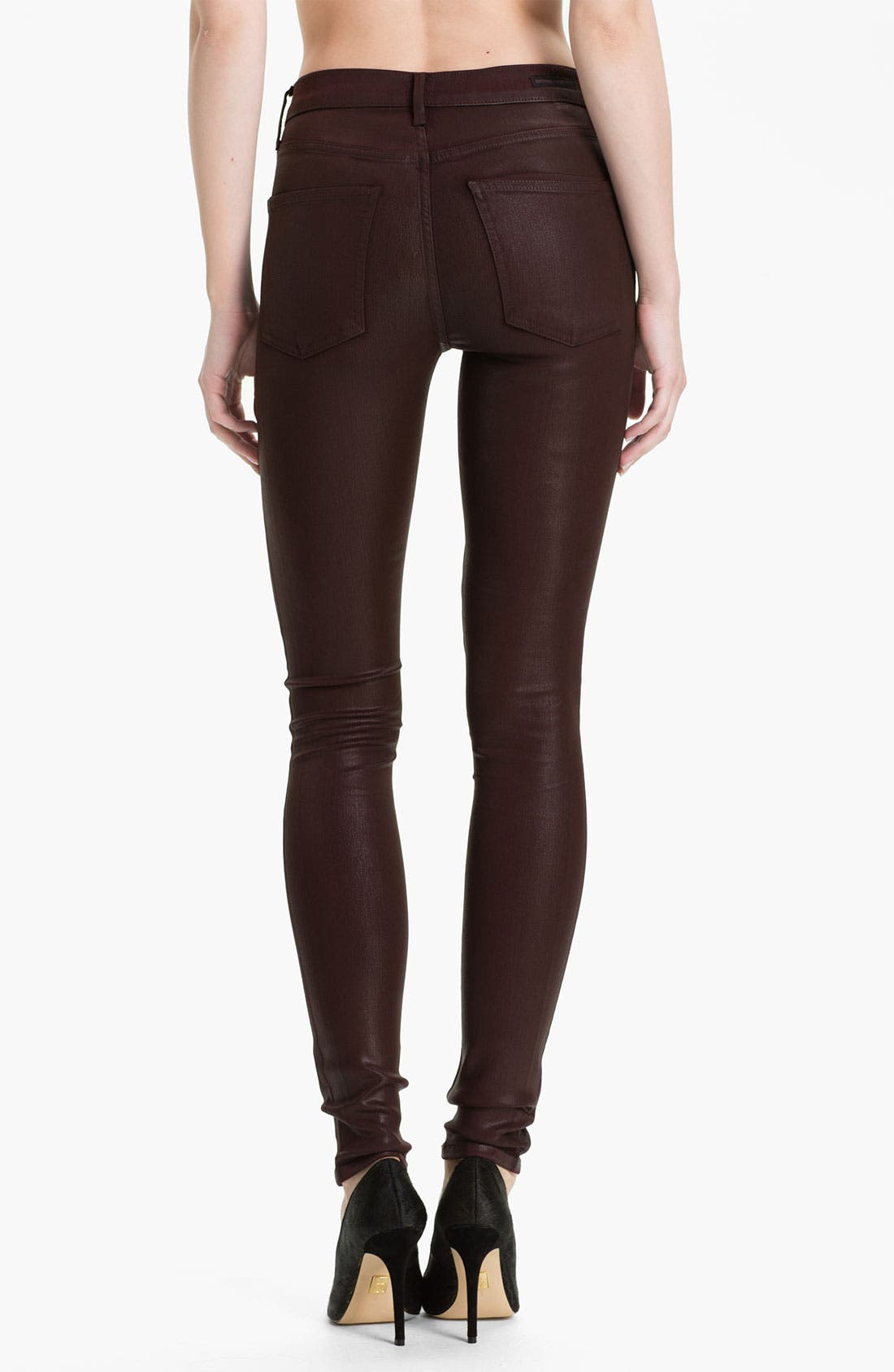 Alternate Image 2  - Citizens of Humanity 'Rocket' Skinny Leatherette Jeans (Lacquer Red)