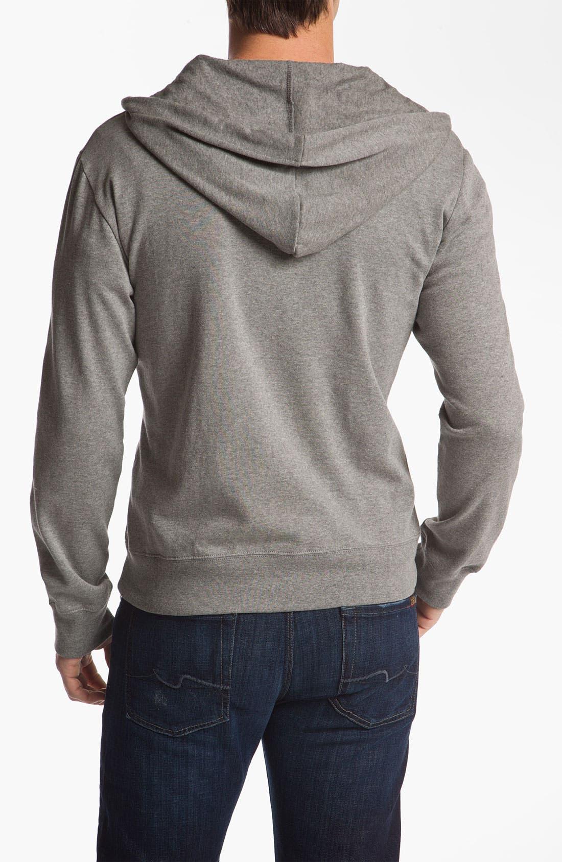 Alternate Image 2  - Brixton 'Civil' Hooded Zip Front Sweatshirt