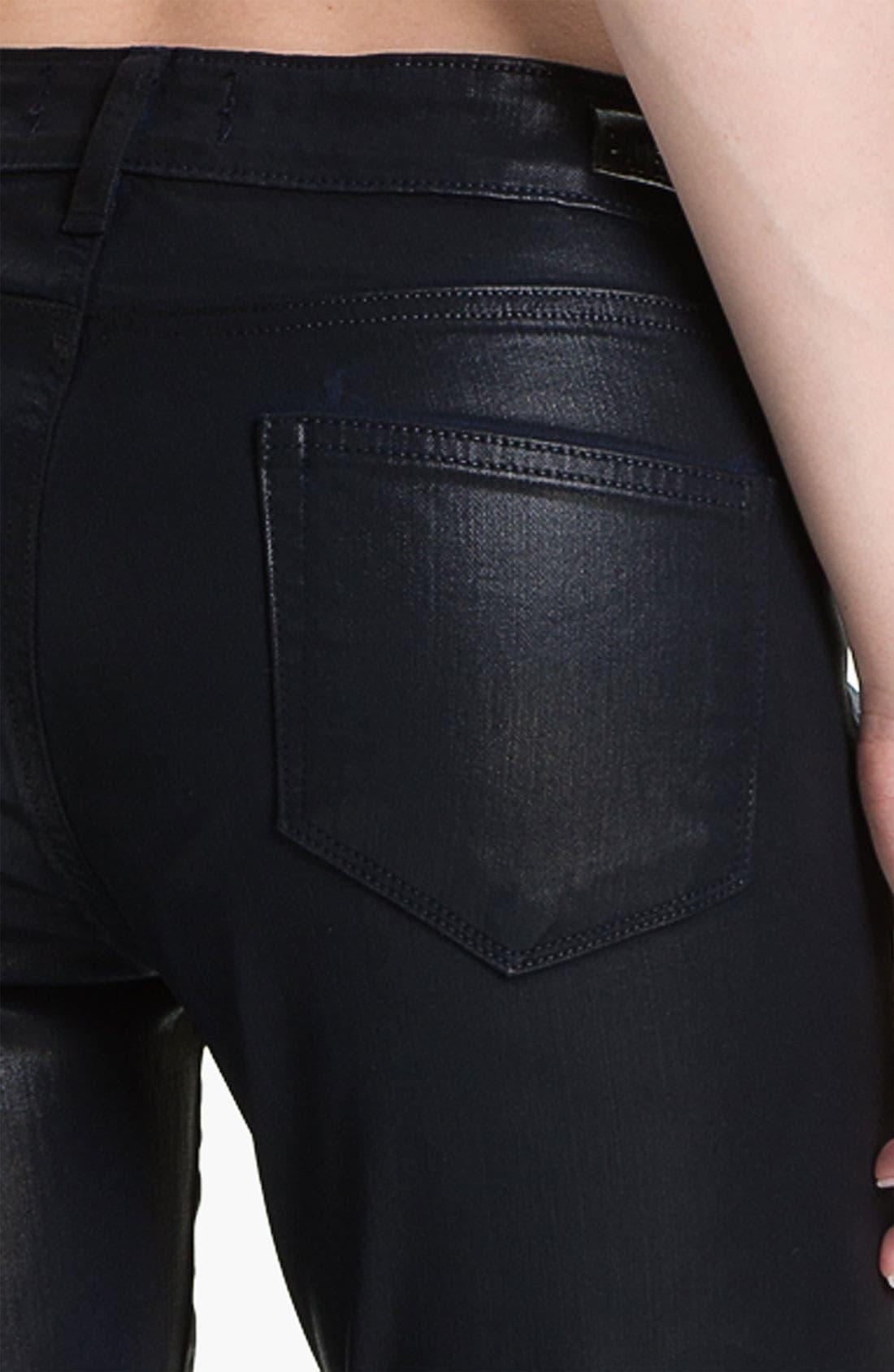 Alternate Image 3  - Paige Denim 'Verdugo' Coated Stretch Denim Jeans (Azure Silk)