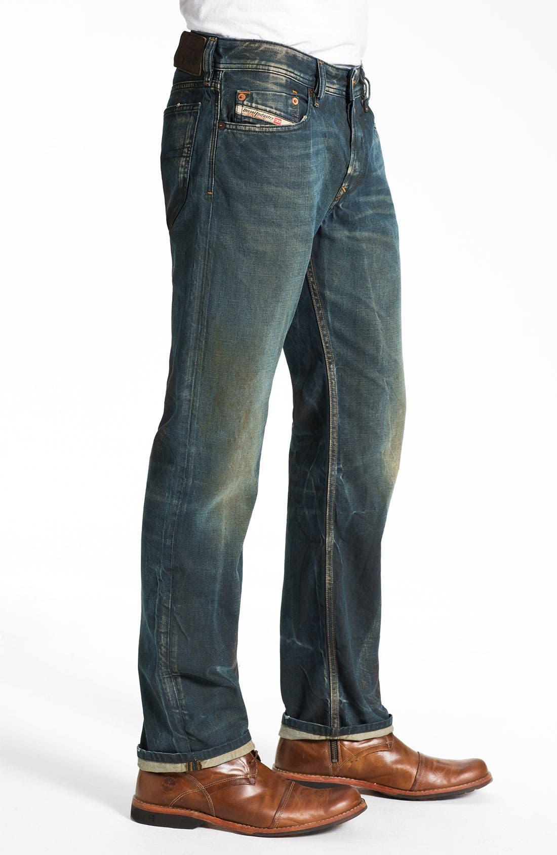 Alternate Image 3  - DIESEL® 'Waykee' Straight Leg Jeans (0808H)