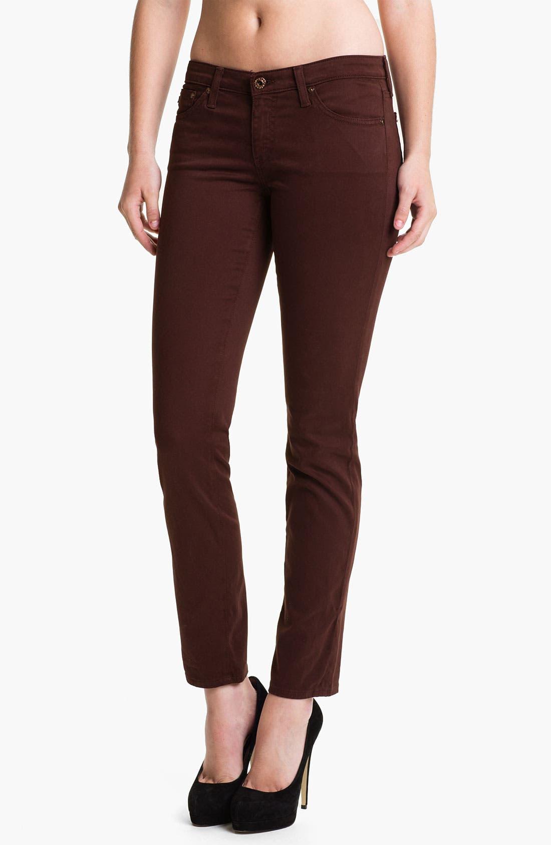 Alternate Image 1 Selected - AG 'Stilt' Skinny Ankle Jeans (Raisin)