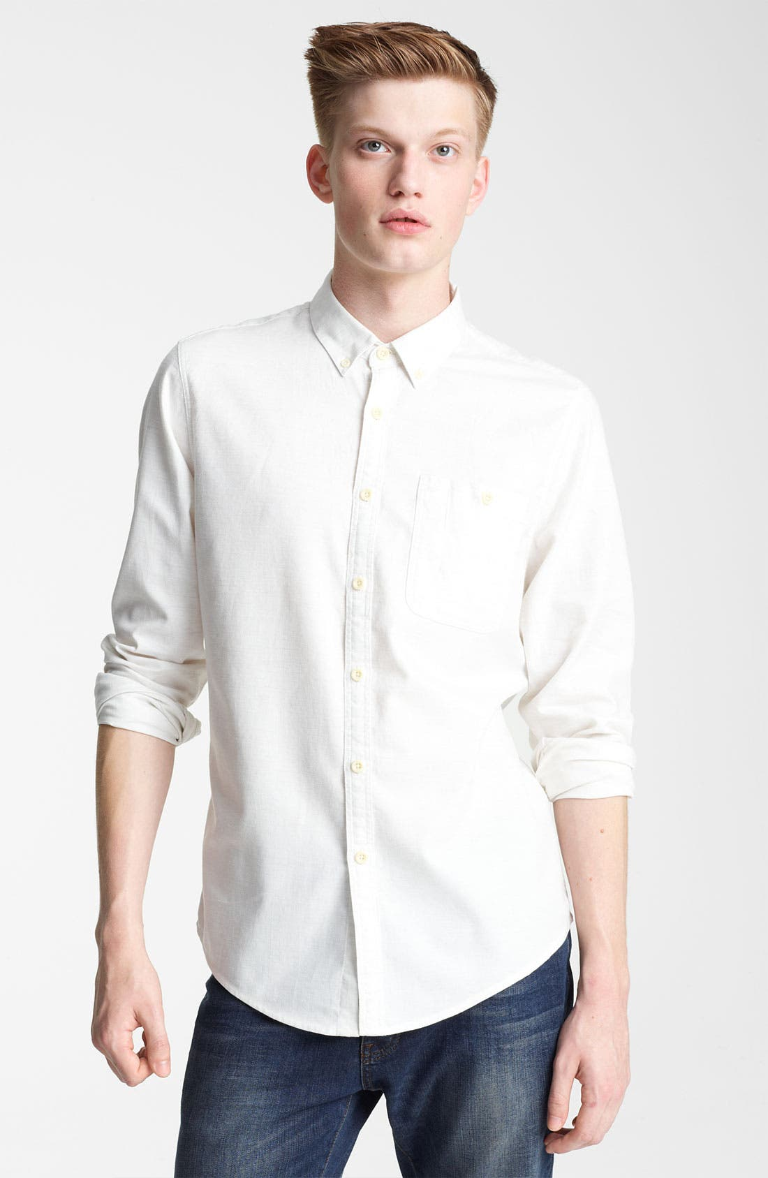 Main Image - Topman Cotton Flannel Shirt
