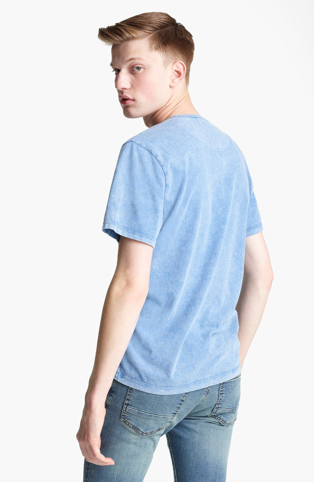 Alternate Image 2  - Topman Washed Cotton Pocket T-Shirt