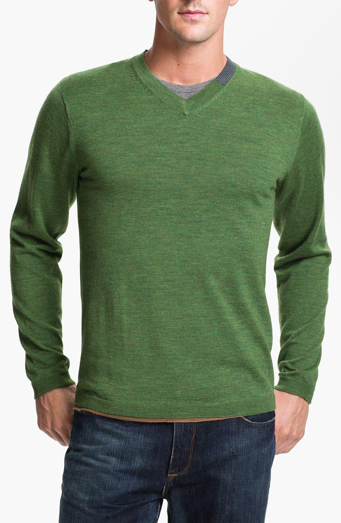 Alternate Image 1 Selected - Robert Graham 'Forest' V-Neck Wool Sweater