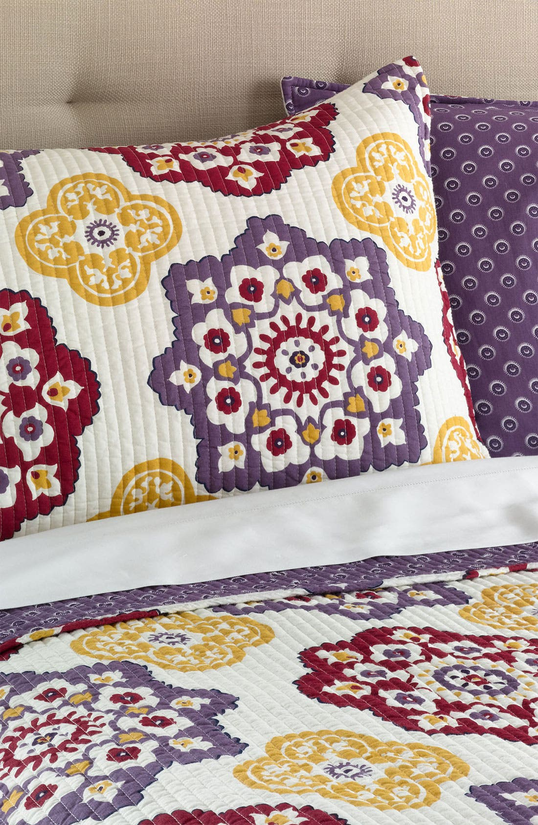Alternate Image 1 Selected - Levtex 'Moroccan' Quilted Pillow Sham