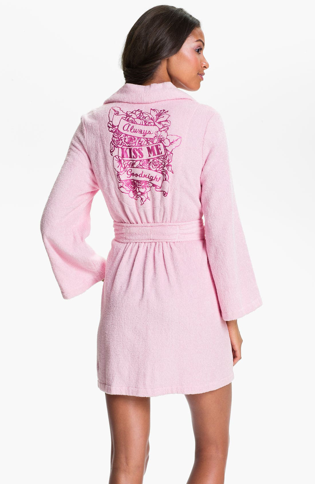 Main Image - Betsey Johnson Printed Terry Robe