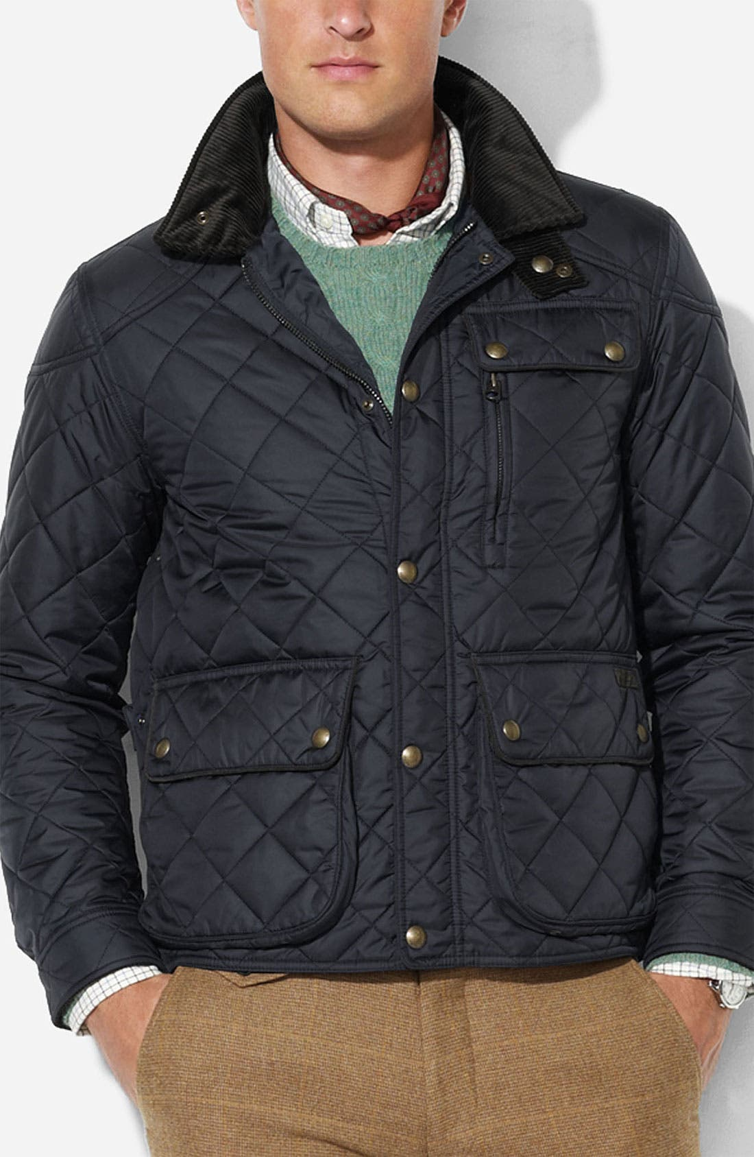 Main Image - Polo Ralph Lauren 'Cadwell' Classic Fit Quilted Bomber Jacket