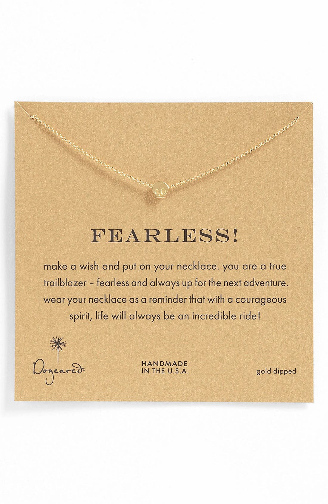 Alternate Image 1 Selected - Dogeared 'Whispers - Fearless' Pendant Necklace