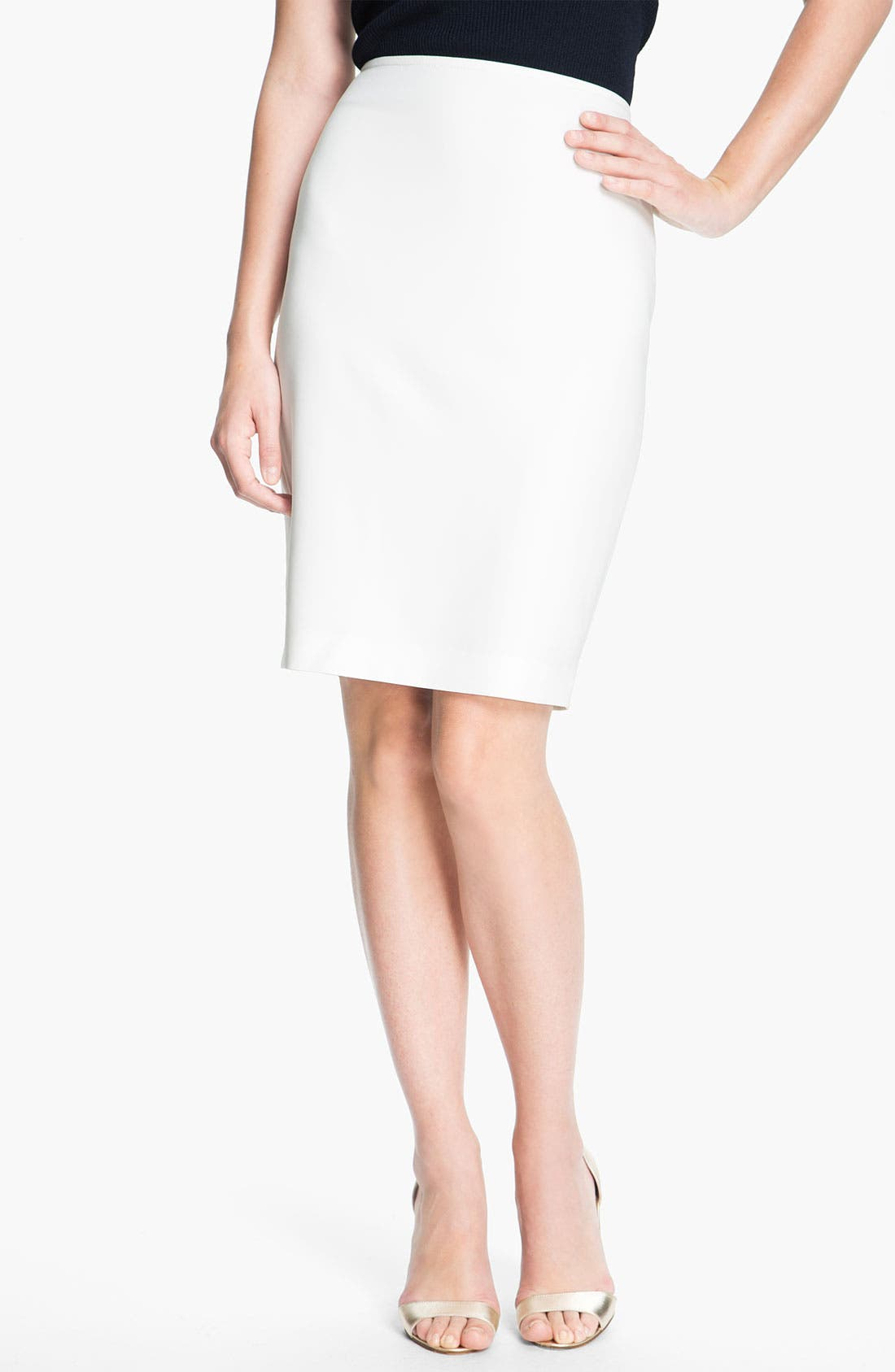 Alternate Image 2  - St. John Collection Crepe Marocain Pencil Skirt