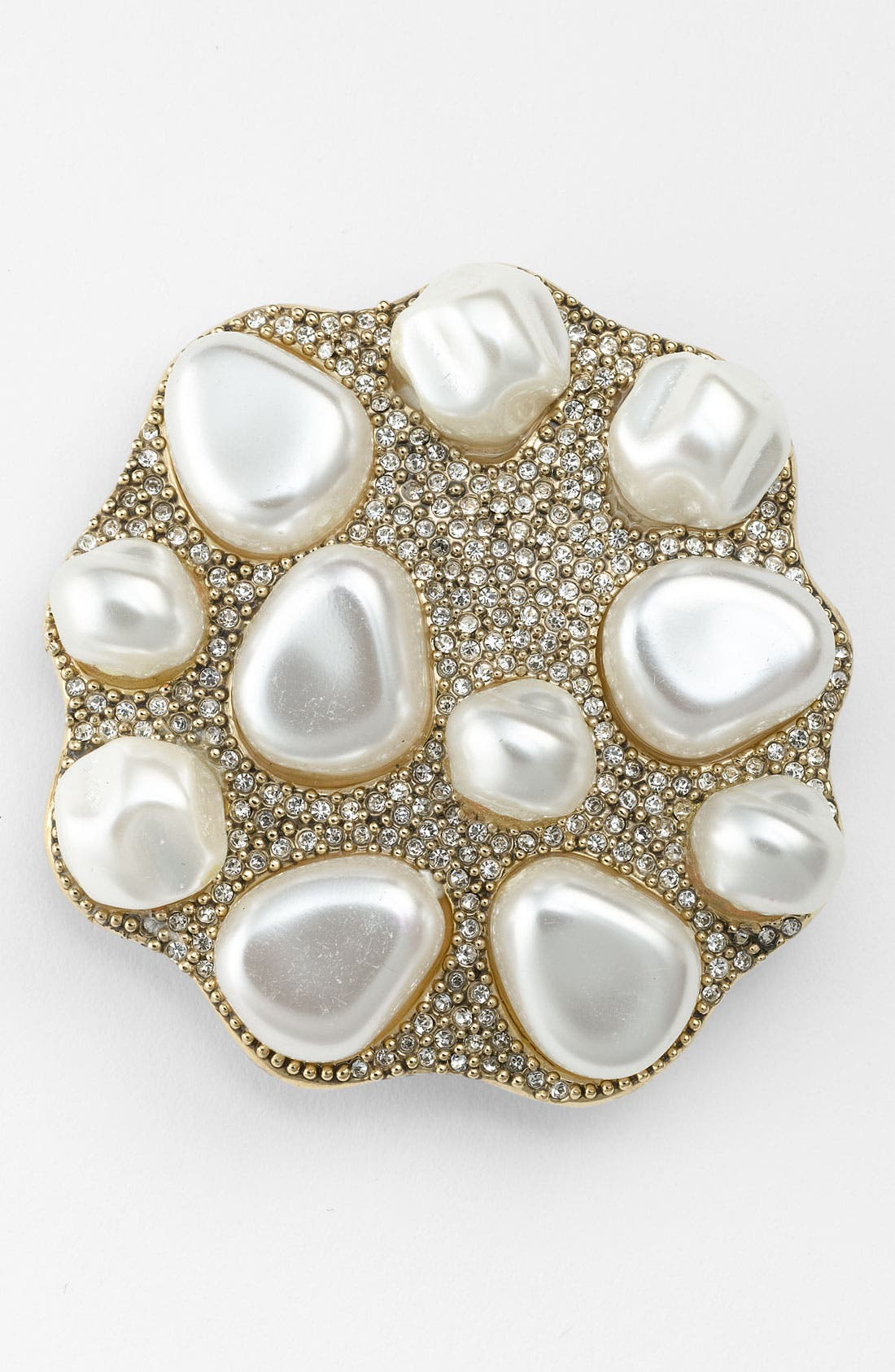 Alternate Image 1 Selected - St. John Collection Antique Gold Glass Pearl Brooch
