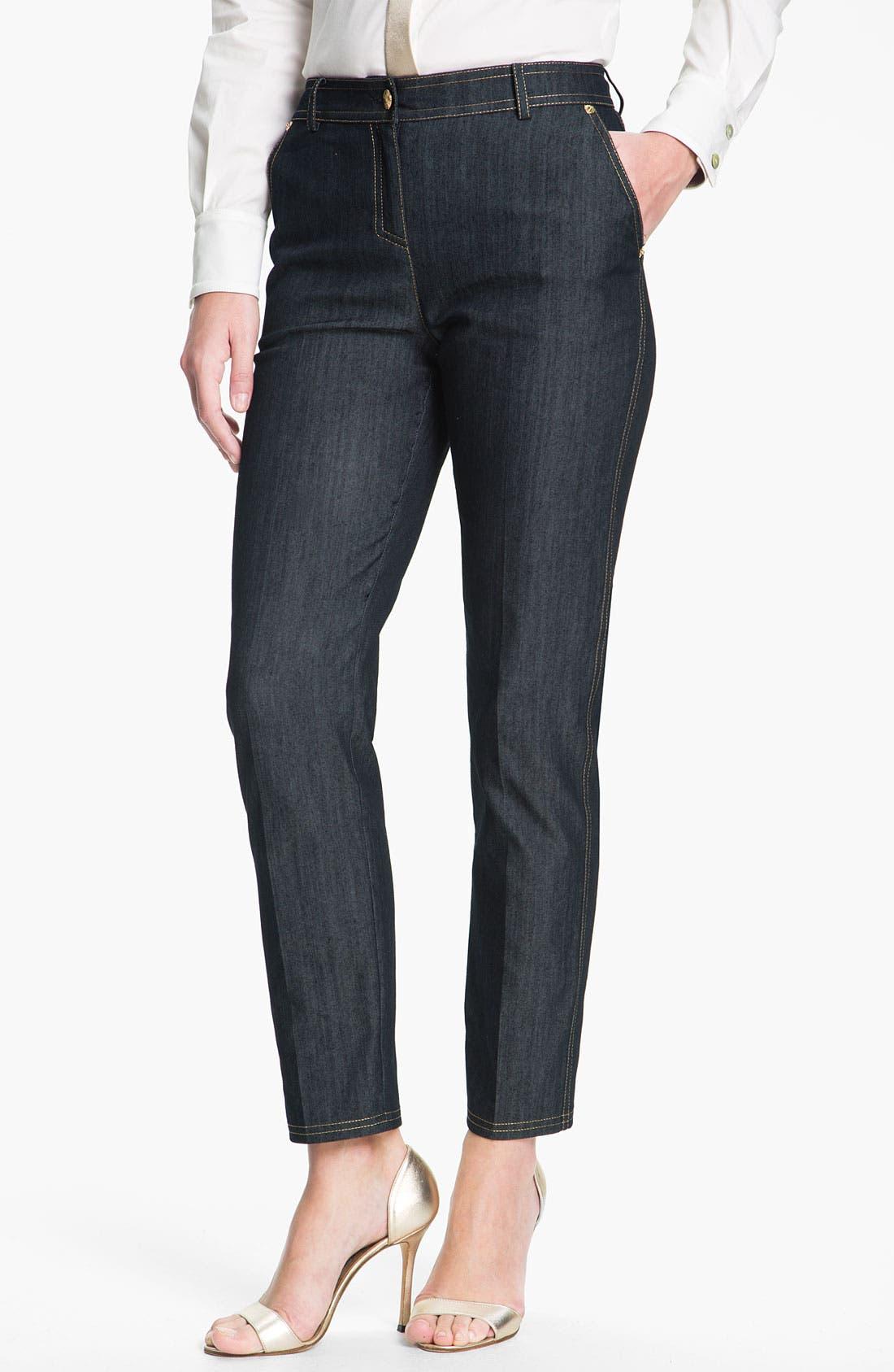 Alternate Image 2  - St. John Collection Lightweight Denim Crop Pants