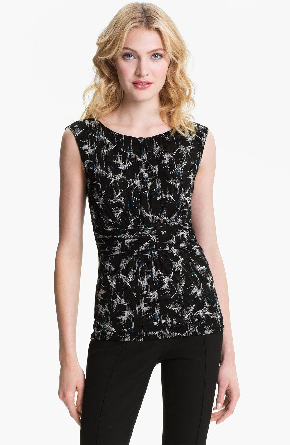 Alternate Image 1 Selected - Classiques Entier® Ruched Waist Double Knit Top