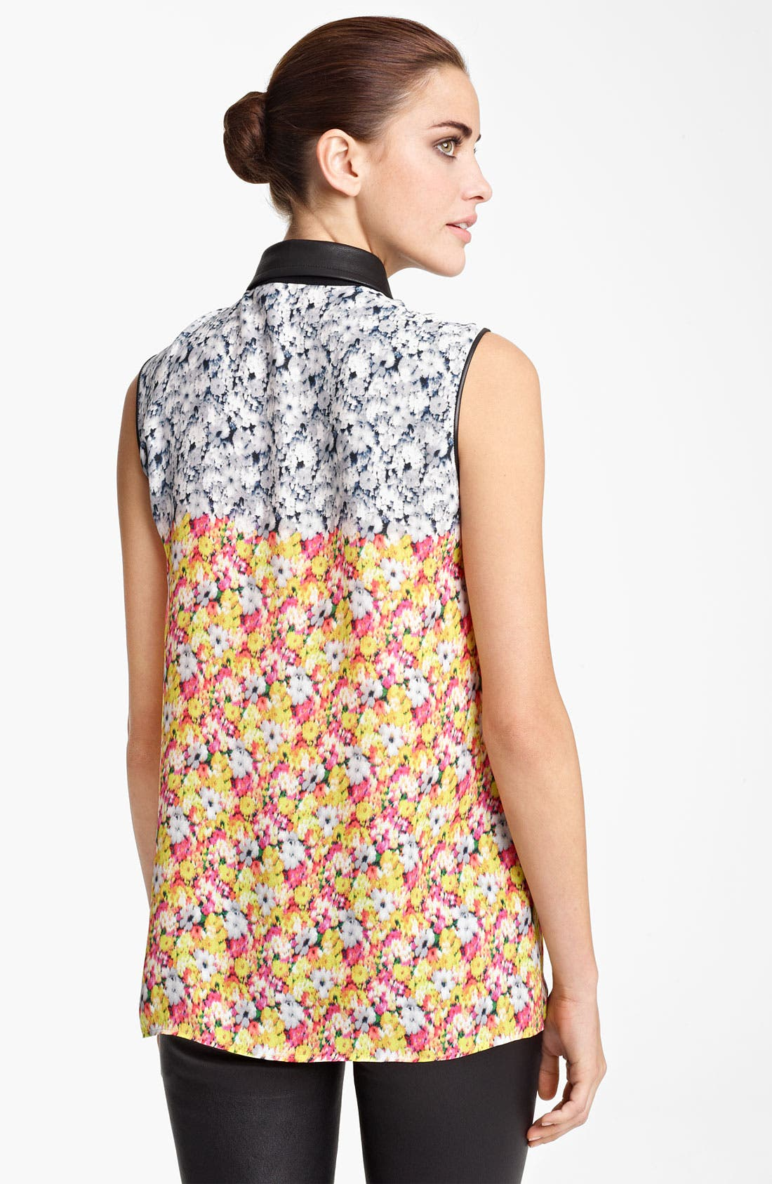 Alternate Image 2  - Yigal Azrouël Floral Ikat Georgette Blouse