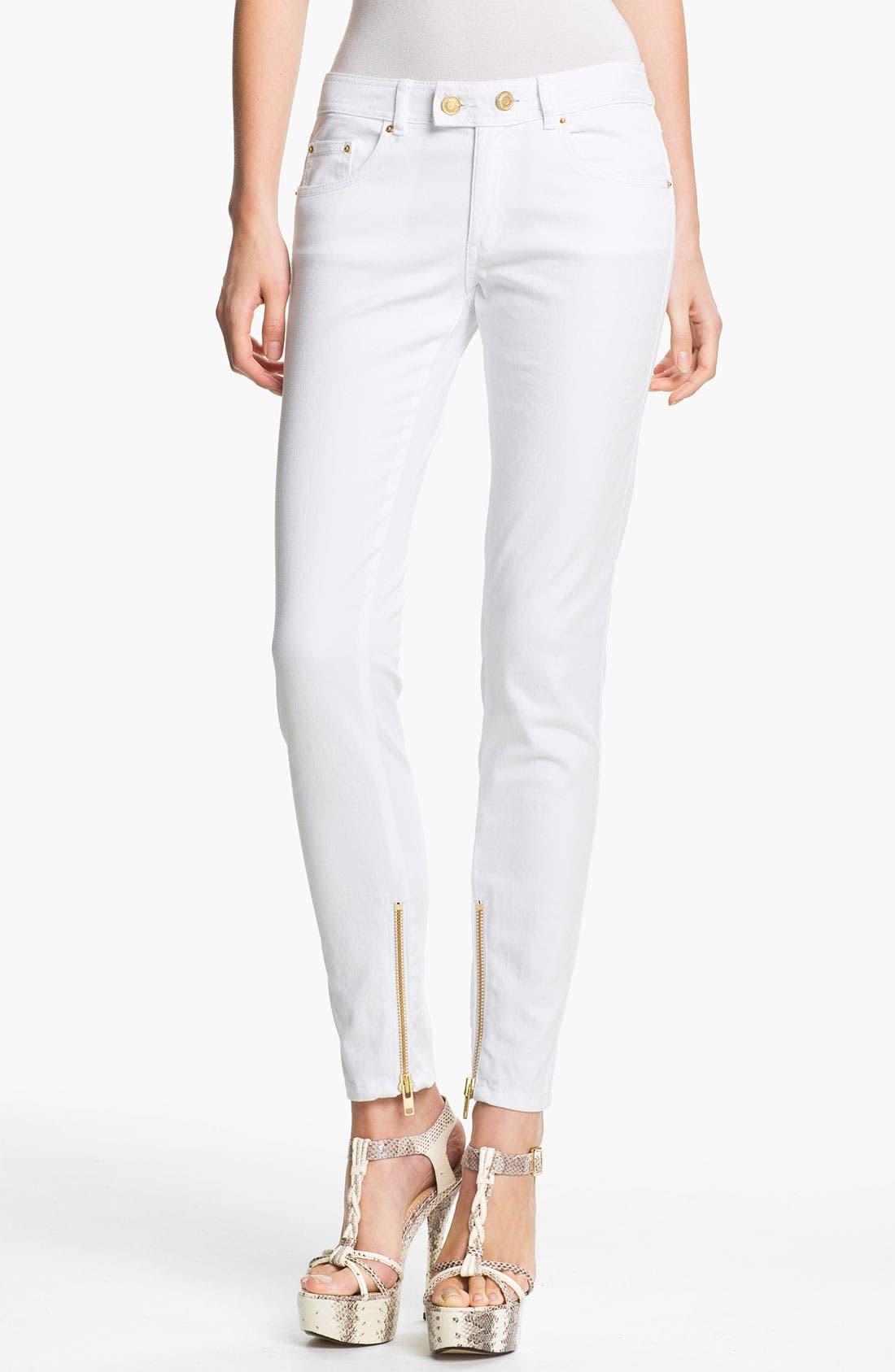 Alternate Image 1 Selected - Rachel Zoe 'Julie' Zip Detail Skinny Stretch Jeans