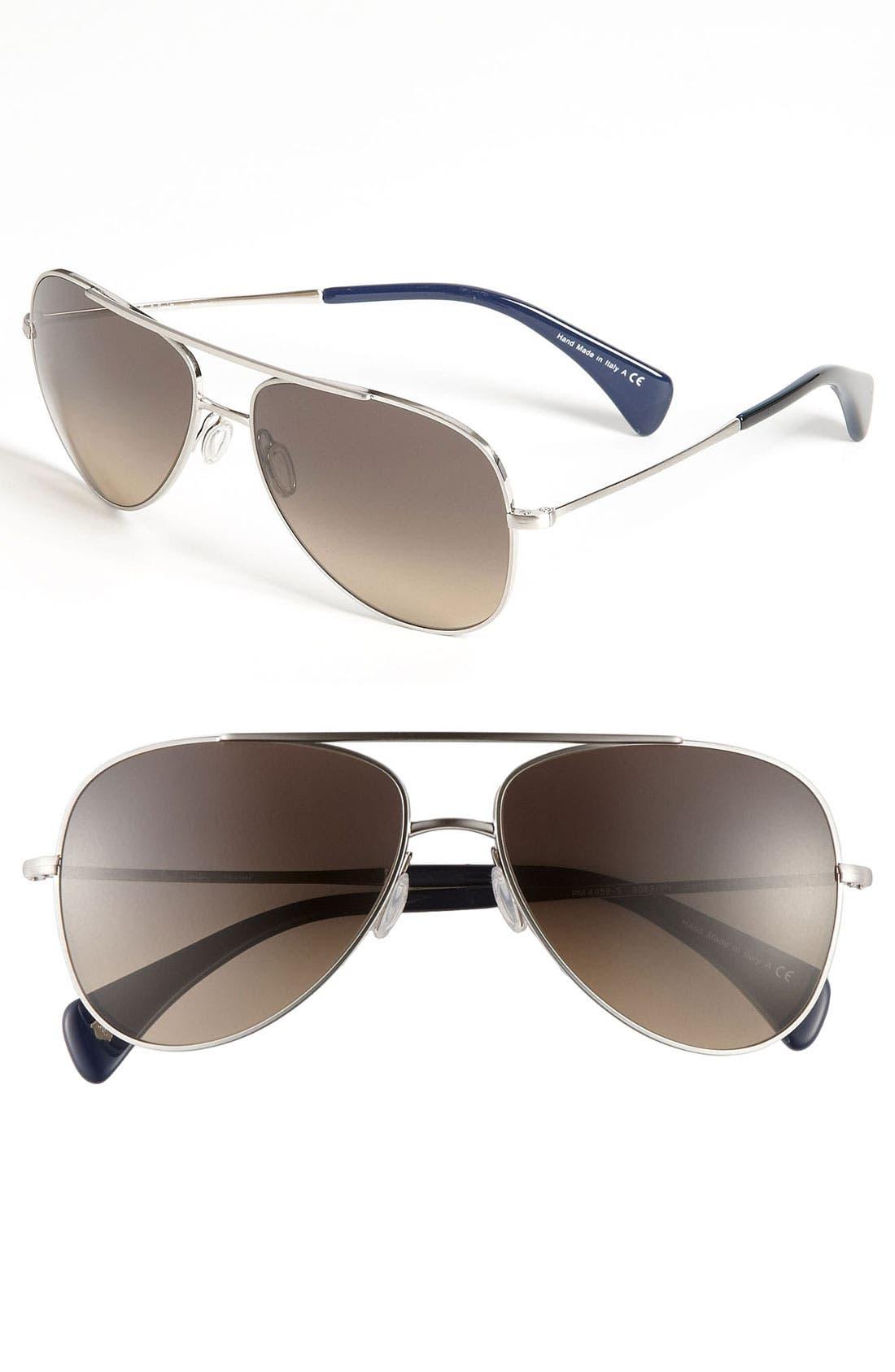 Alternate Image 1 Selected - Paul Smith 'Barrick' Polarized Aviator Sunglasses