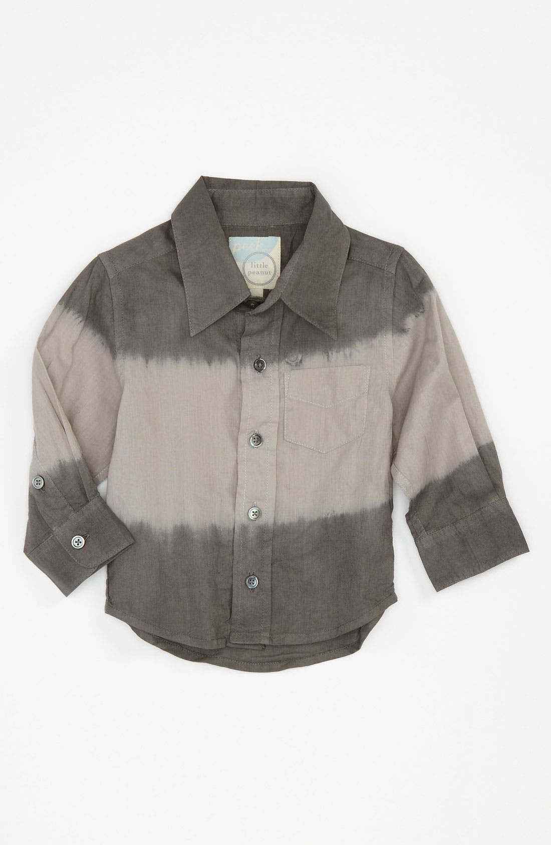 Alternate Image 1 Selected - Peek 'Dylan' Dip Dye Shirt (Infant)