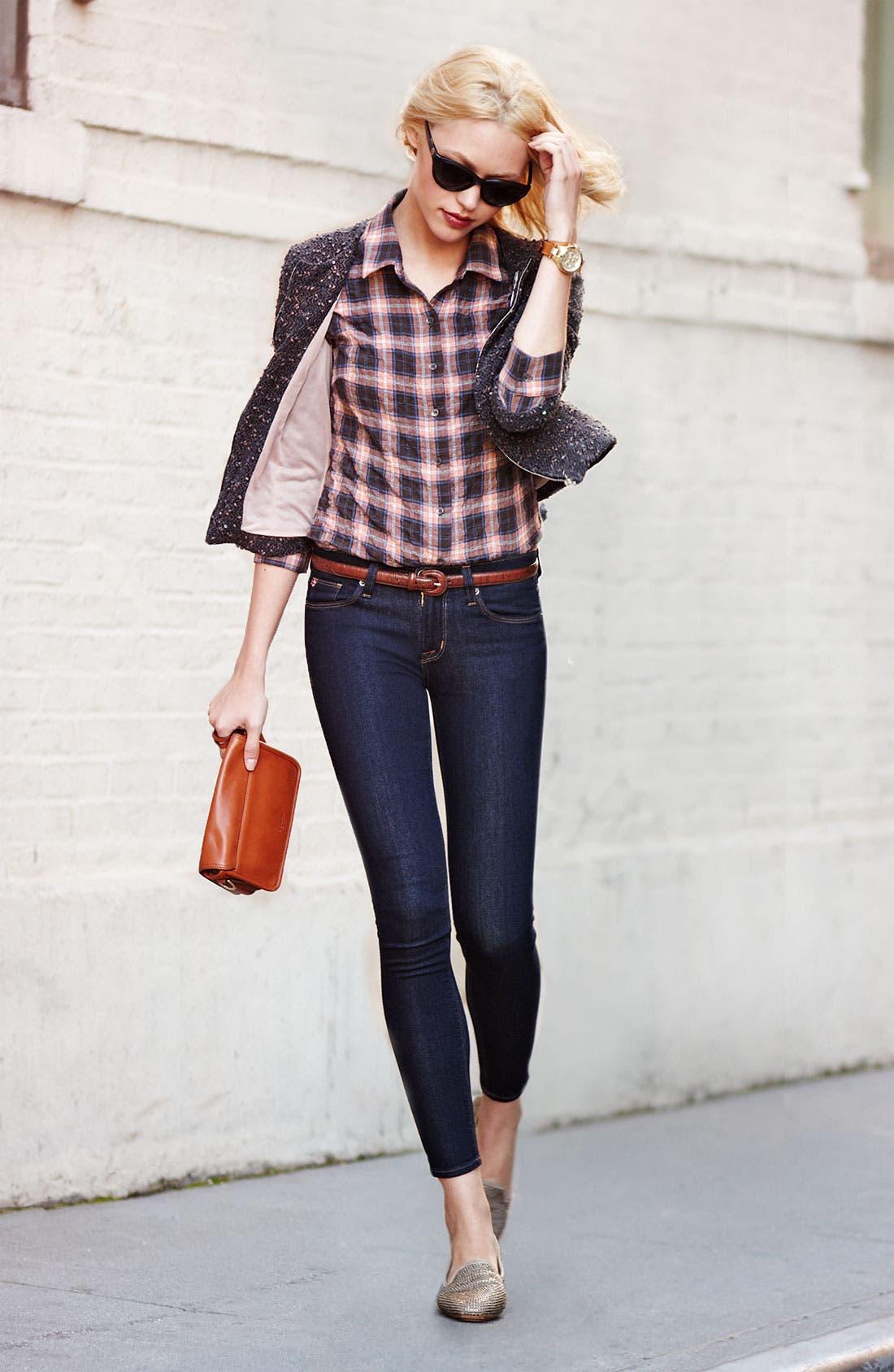 Alternate Image 1 Selected - Pure Sugar Jacket, James Perse Shirt & Hudson Jeans