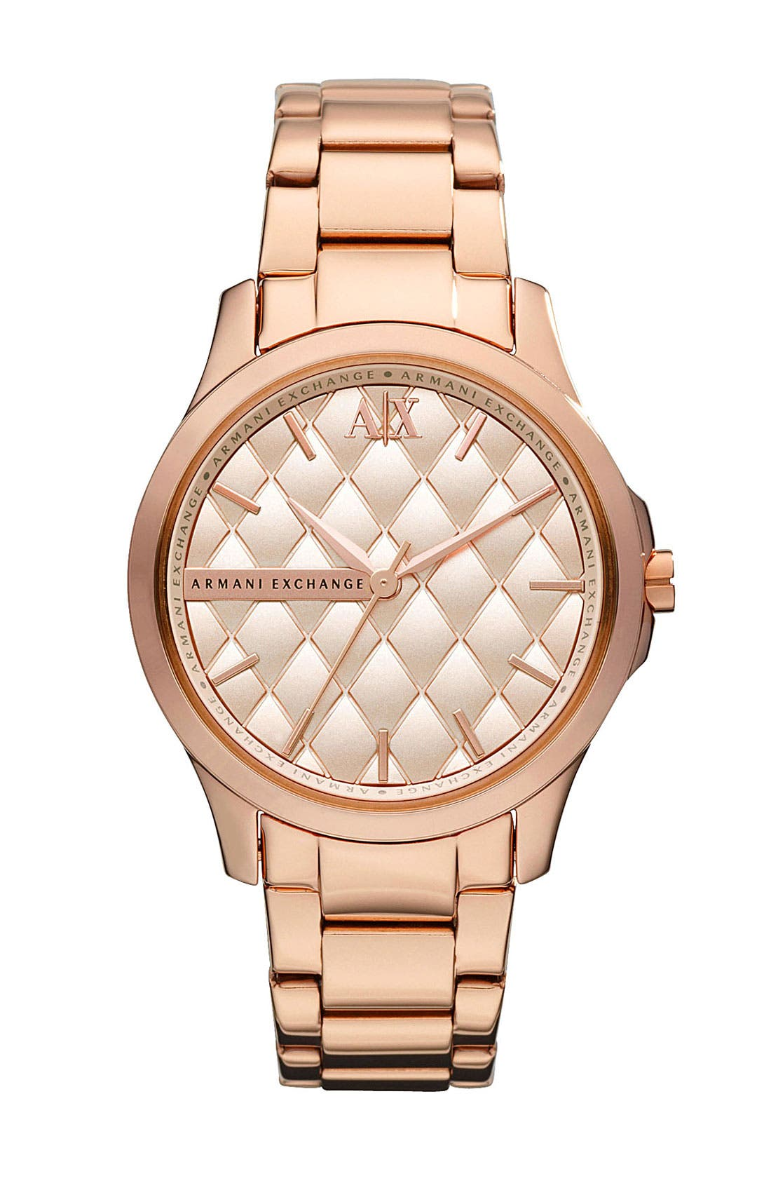 Main Image - AX Armani Exchange Quilted Dial Watch, 36mm (Online Only)