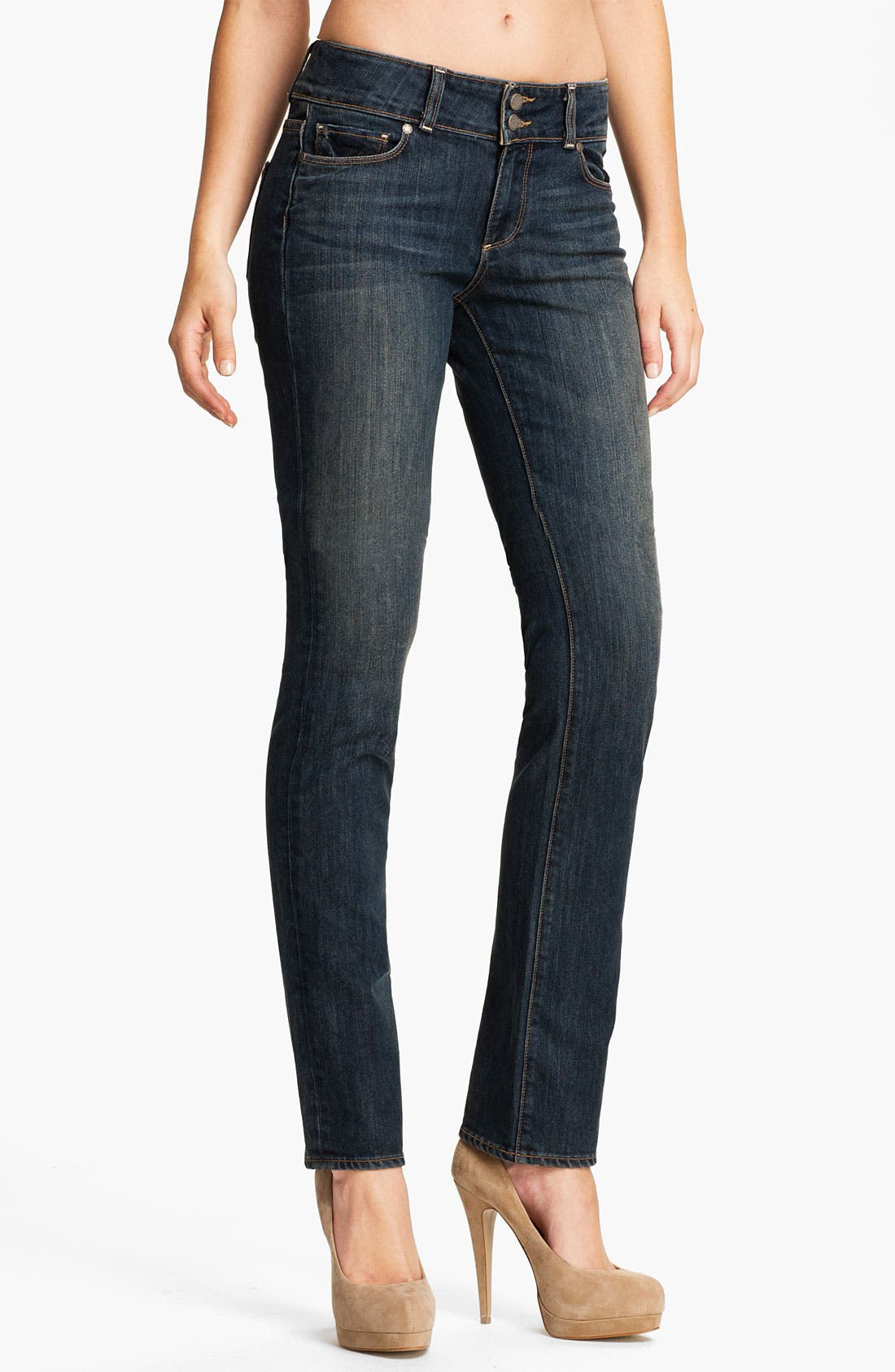 Main Image - Paige Denim 'Hidden Hills' Straight Leg Stretch Jeans (Cottonwood Creek)