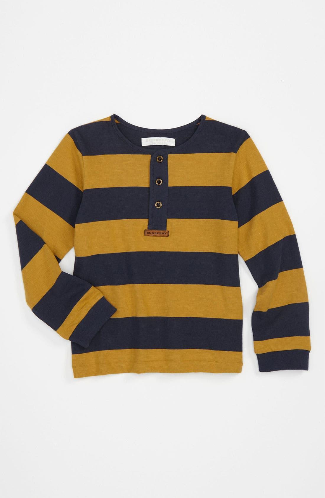 Alternate Image 1 Selected - Burberry Knit Shirt (Toddler)