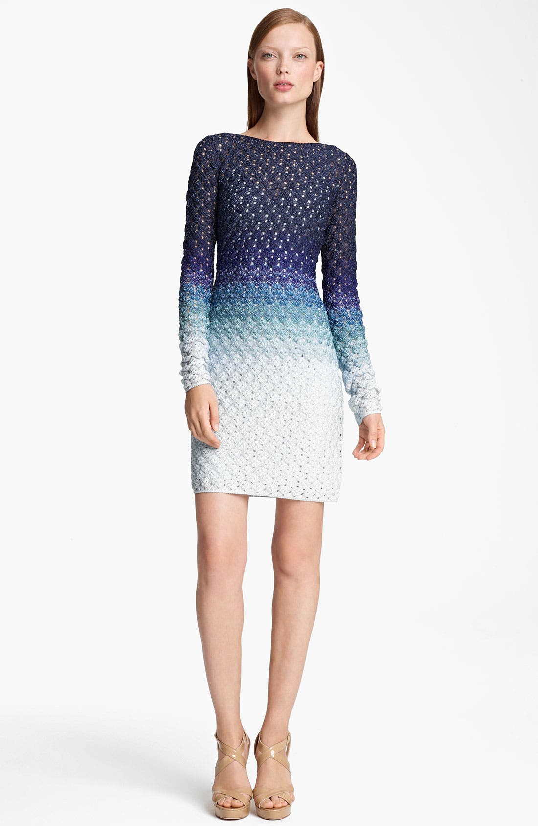 Alternate Image 1 Selected - Missoni Long Sleeve Dégradé Dress