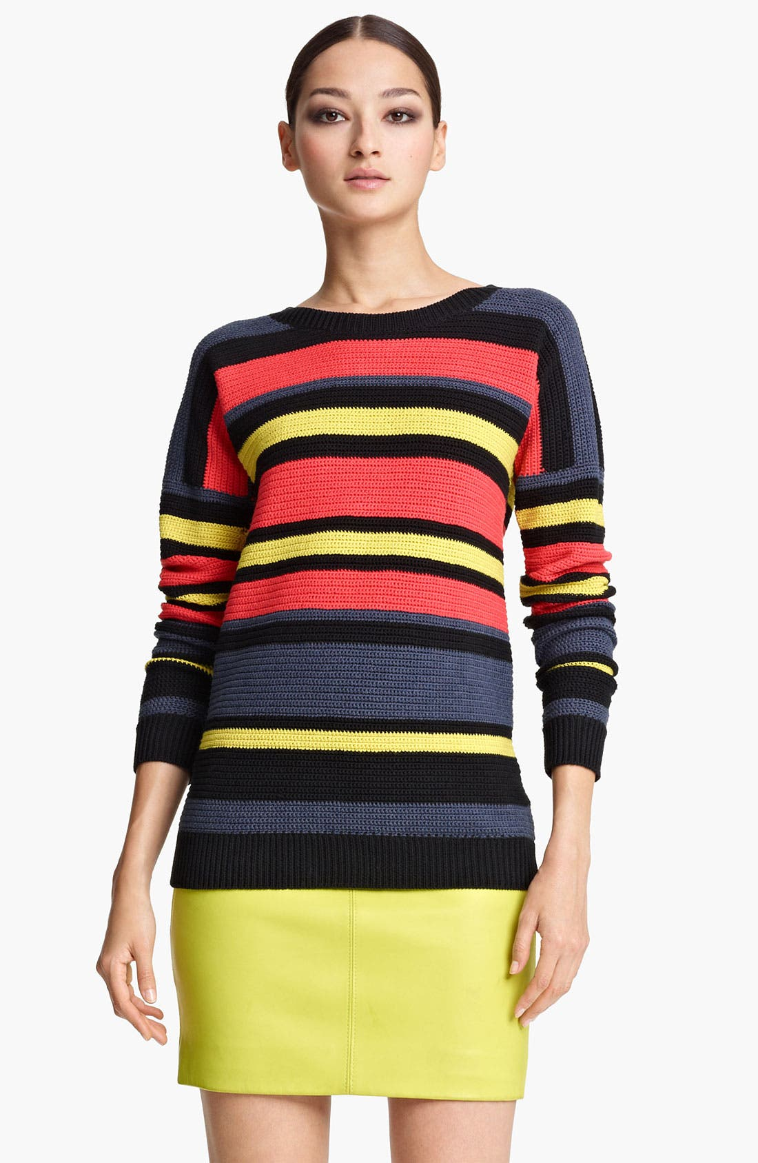 Main Image - Jason Wu Stripe Crochet Sweater
