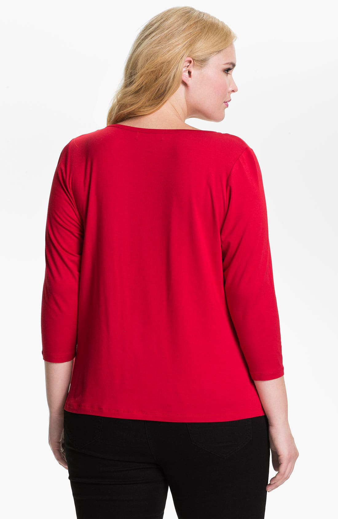 Alternate Image 2  - MICHAEL Michael Kors Drape Neck Top (Plus)