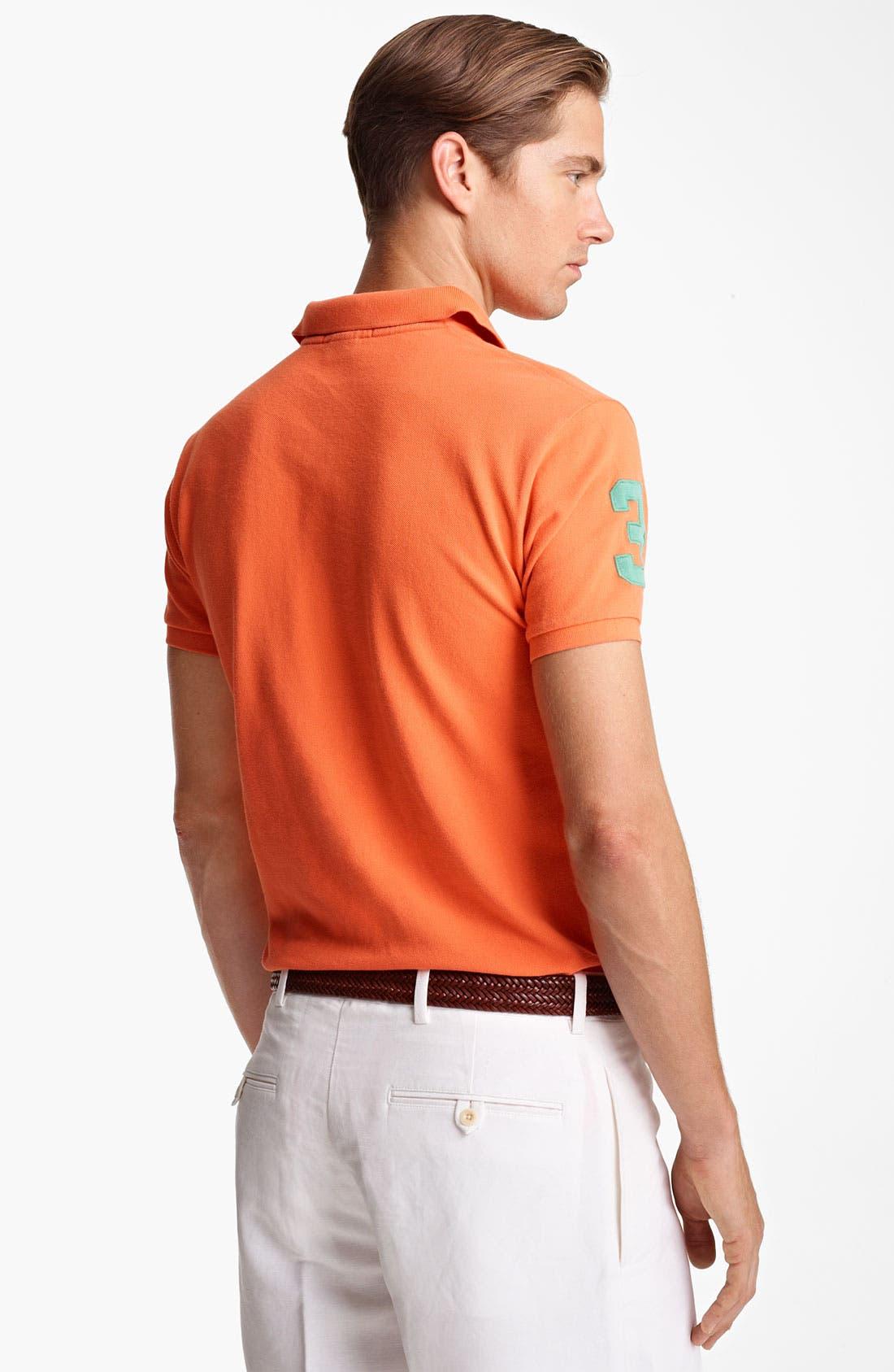 Alternate Image 2  - Polo Ralph Lauren Custom Fit Mesh Polo