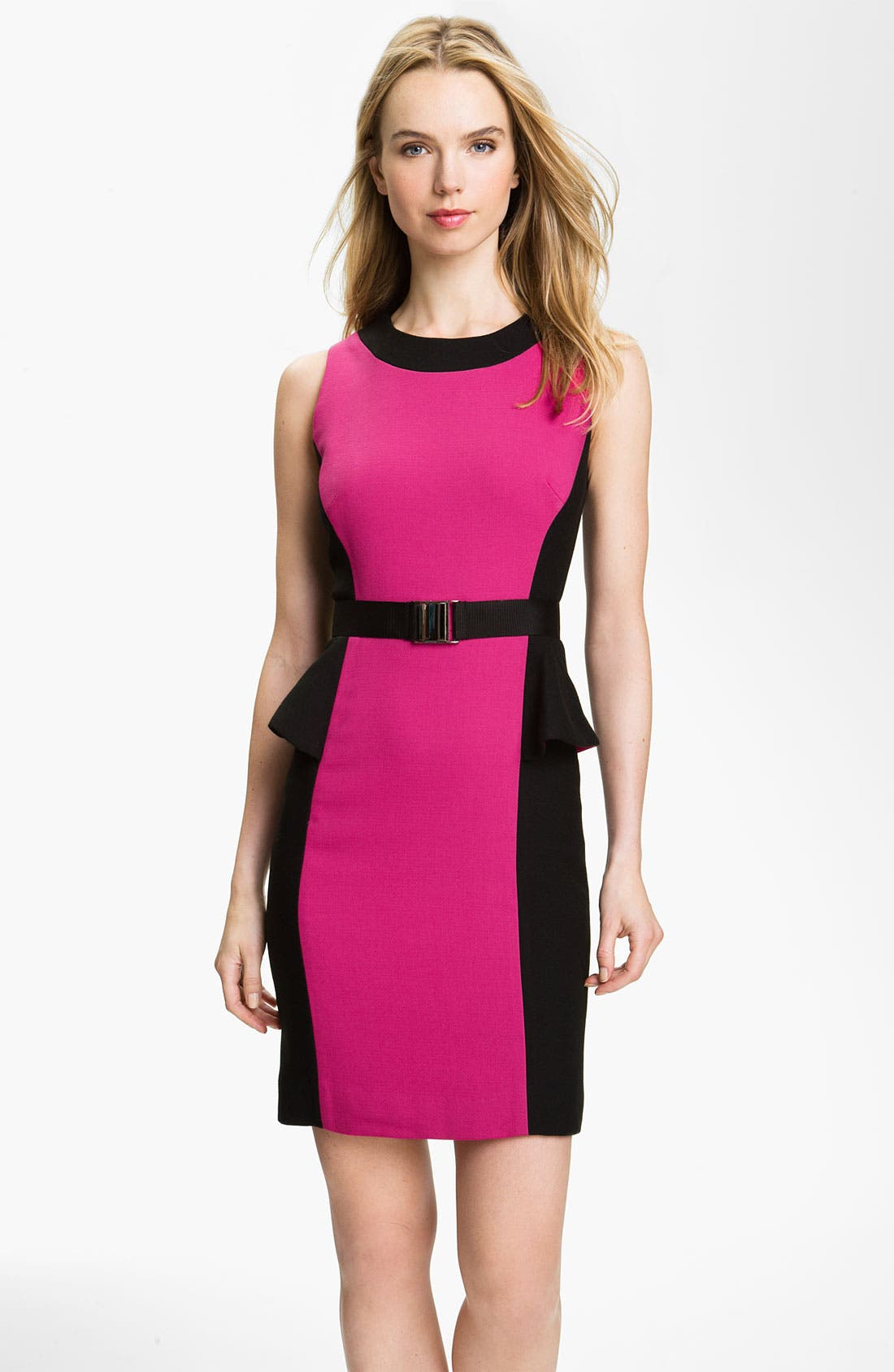 Main Image - Milly 'Olivia' Belted Sheath Dress