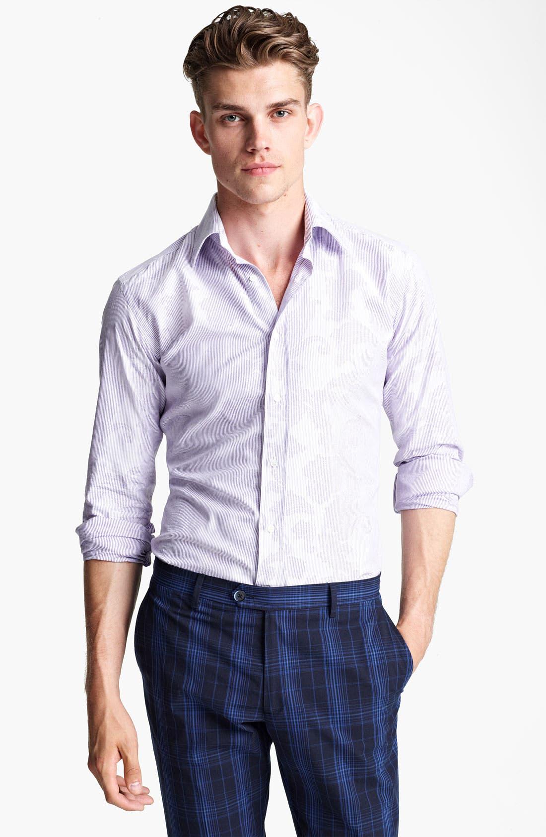 Alternate Image 1 Selected - Etro Pinstripe Jacquard Print Dress Shirt