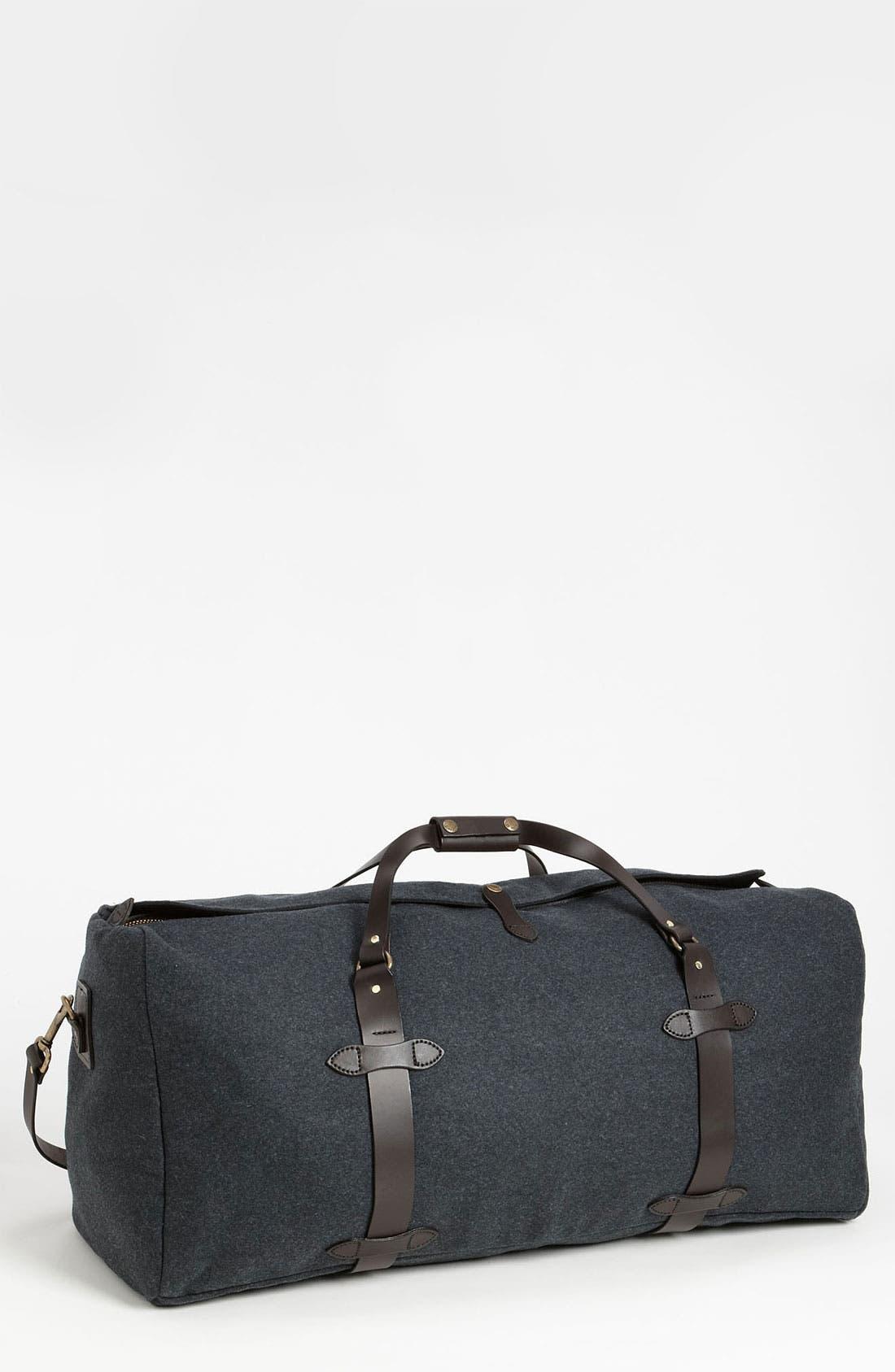 Large Wool Duffel Bag,                             Main thumbnail 1, color,                             Charcoal