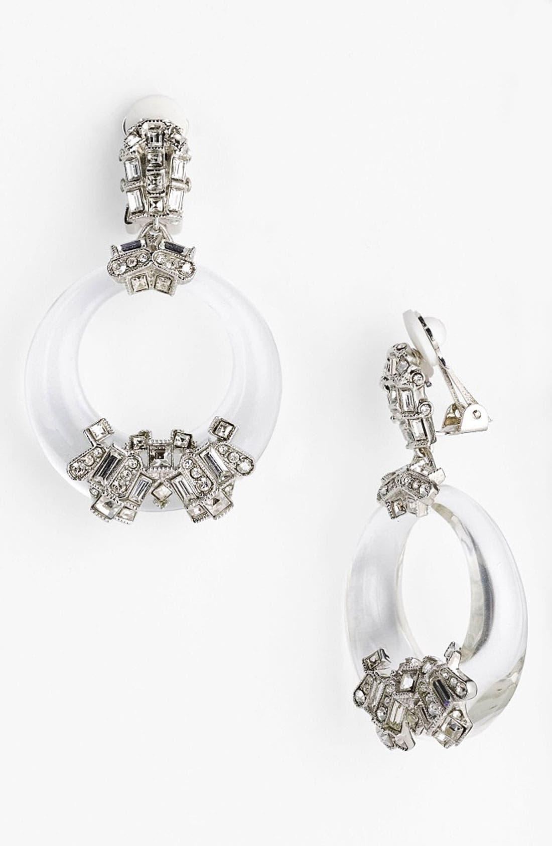 Main Image - Alexis Bittar 'Teatro Moderne' Frontal Hoop Clip Earrings