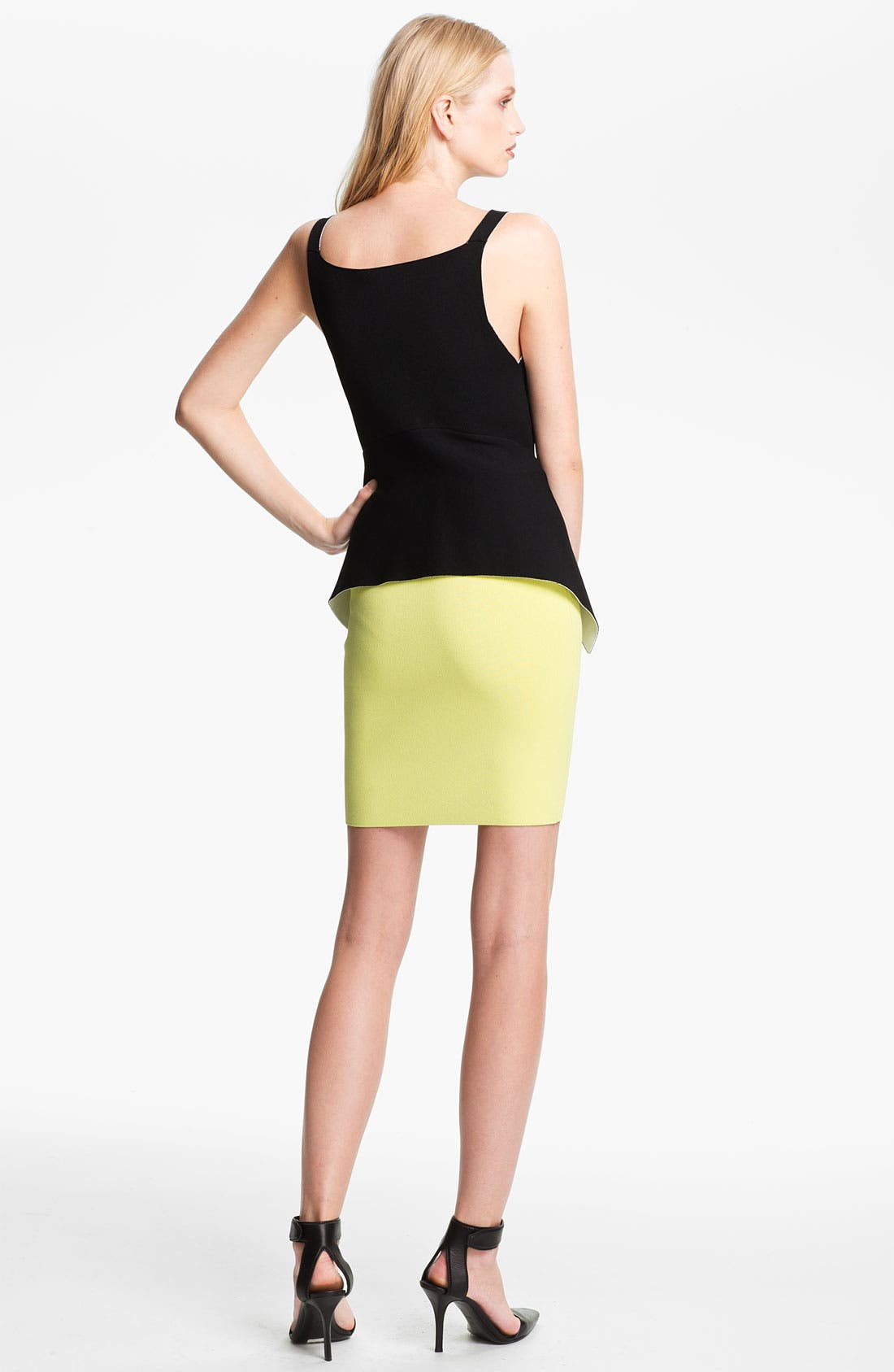 Alternate Image 2  - Alexander Wang Double Face Peplum Top