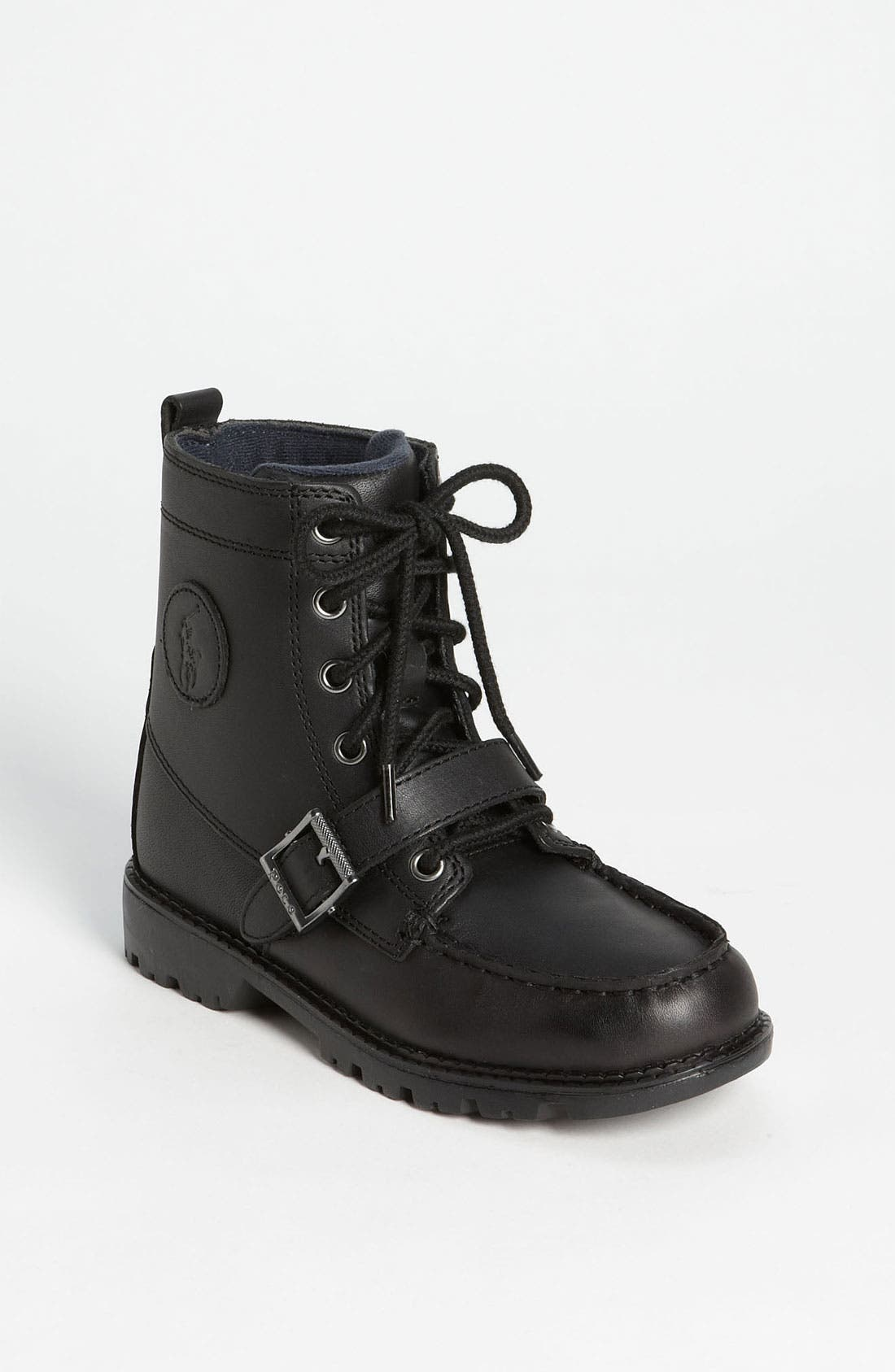 Main Image - Polo Ralph Lauren Leather Boot (Toddler, Little Kid & Big Kid)