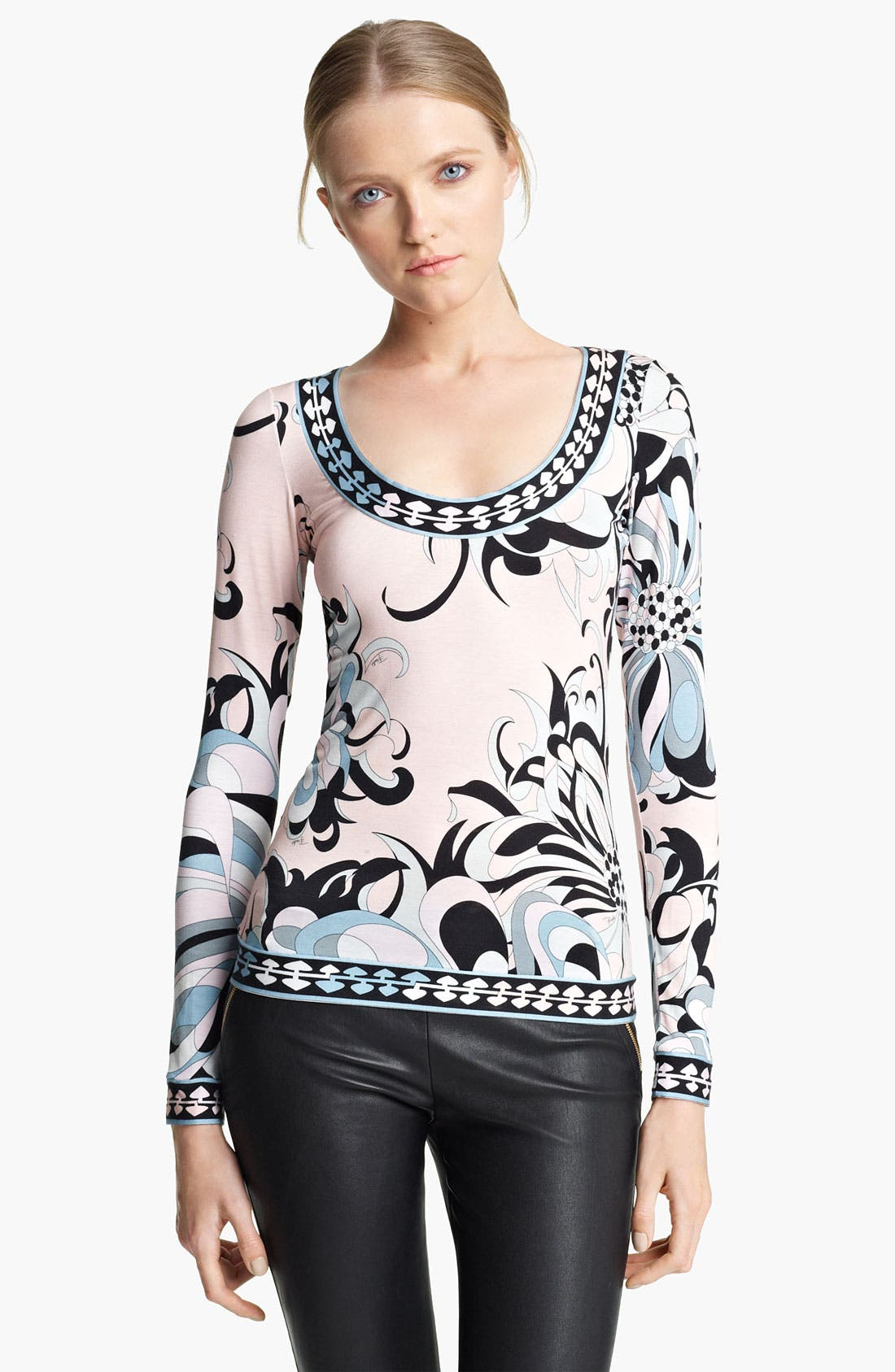 Alternate Image 1 Selected - Emilio Pucci Floral Print Jersey Top