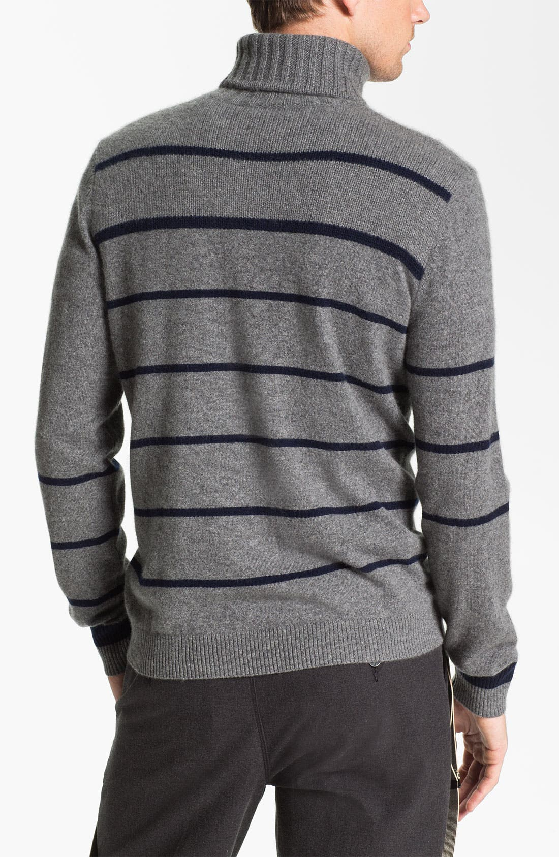 Alternate Image 2  - Façonnable Cashmere Turtleneck Sweater