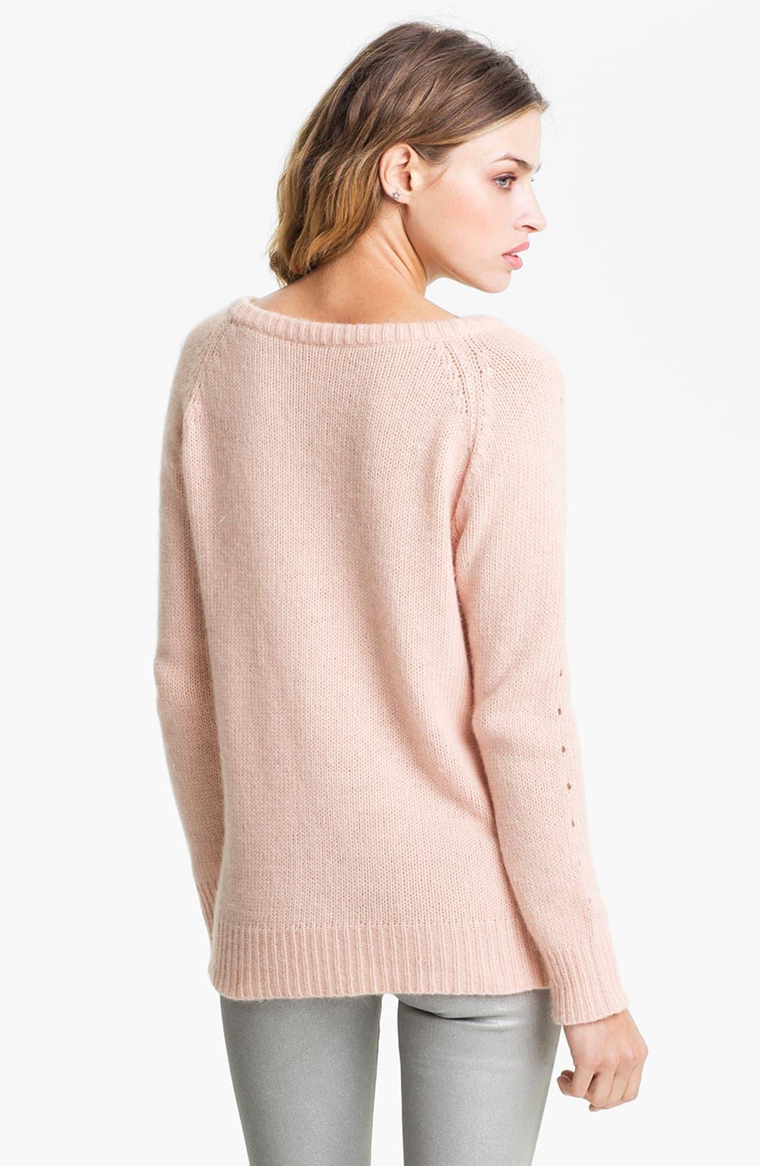 Alternate Image 2  - Bellatrix Fuzzy Eyelet Sweater