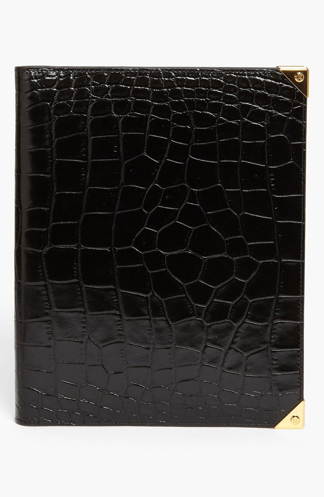 'Prisma' Embossed Leather iPad Case,                         Main,                         color, Black